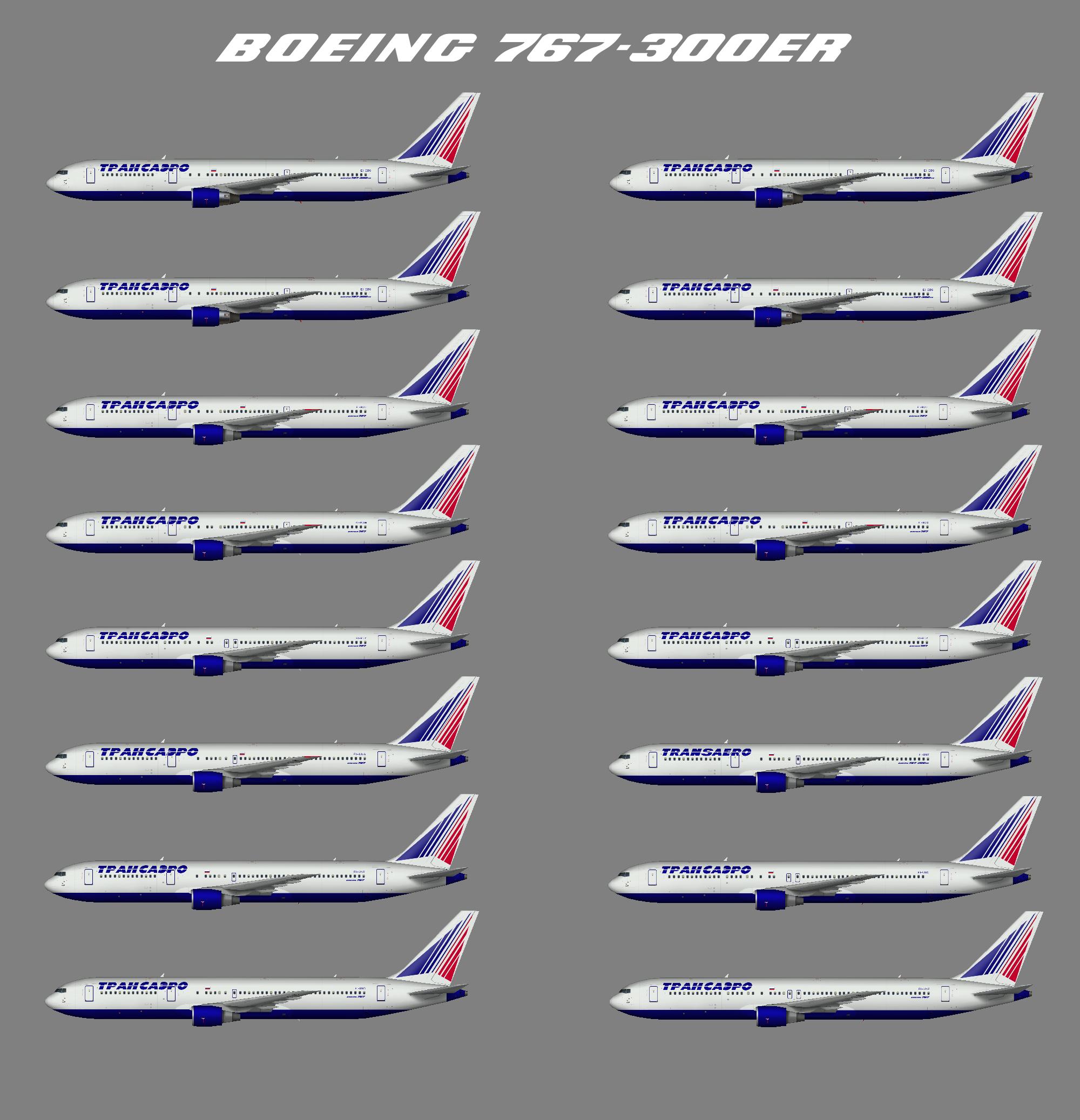 Transaero 767 fleet