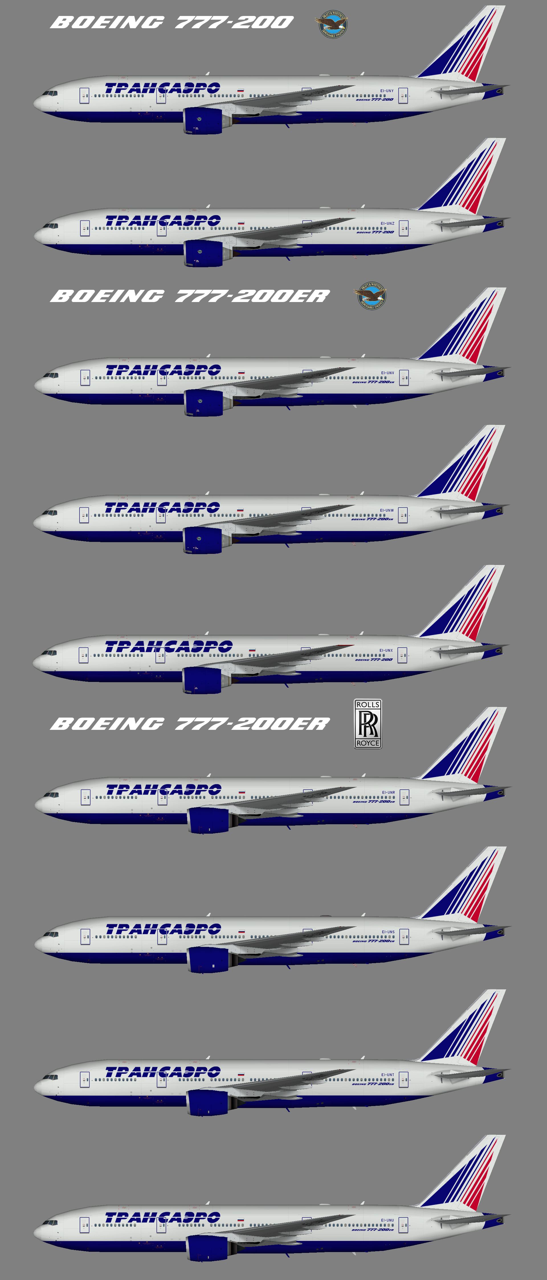 Transaero 777-200 fleet