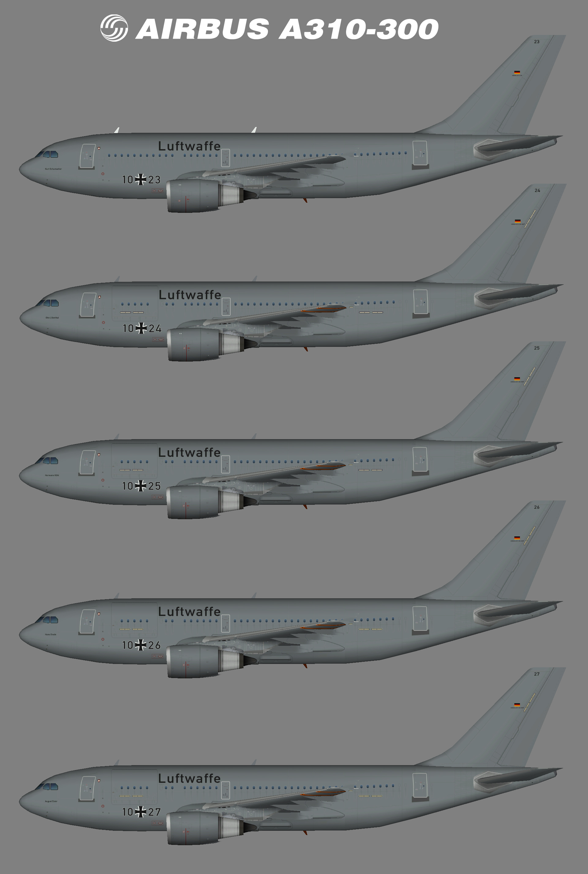 Luftwaffe (German Air Force) Airbus A310-300