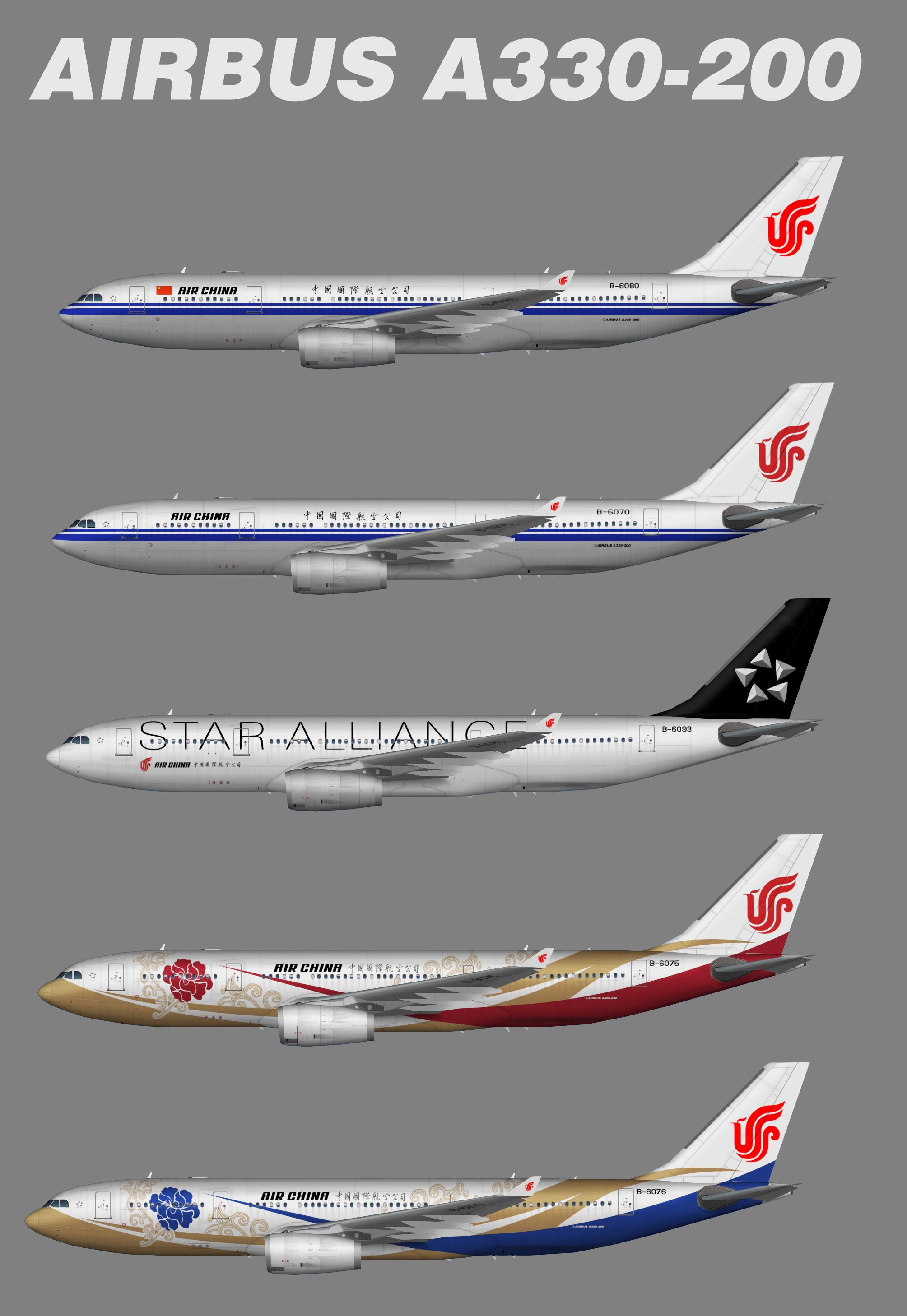 Air China Airbus A330-200 (representative Fleet)