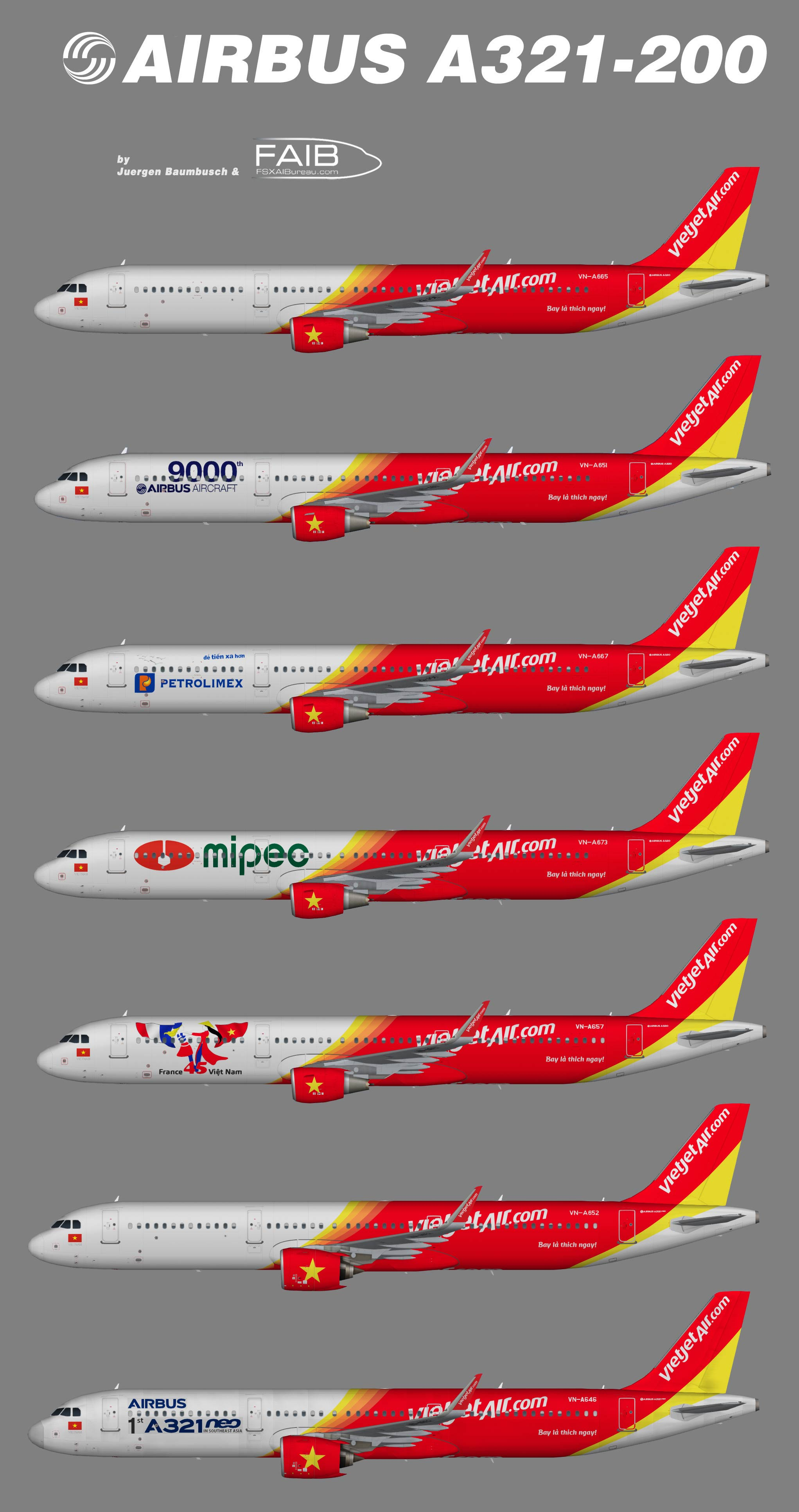 Vietjet Airbus A321-200 Sharklets – Juergen's paint hangar