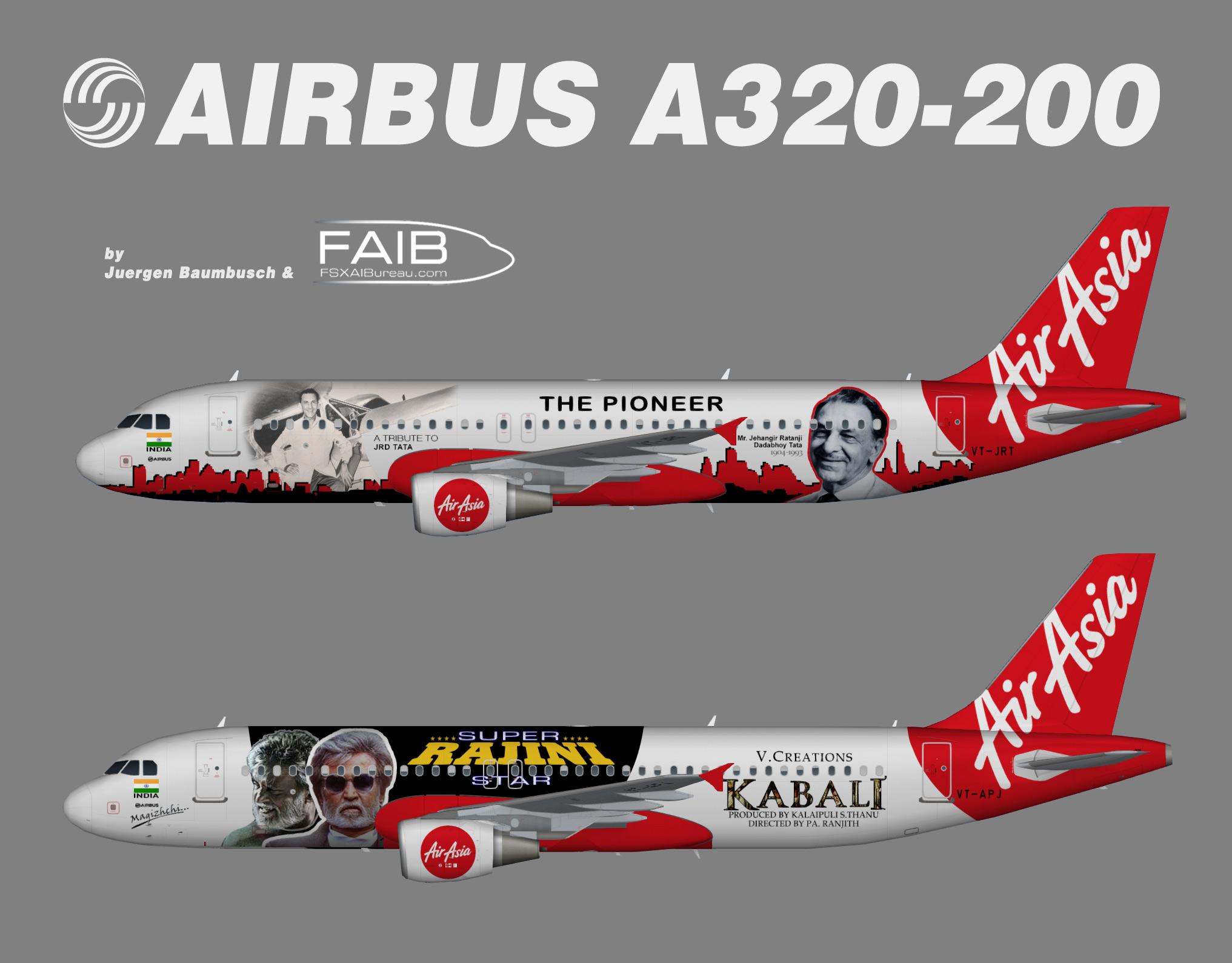 AirAsia India Airbus A320-200 Specials