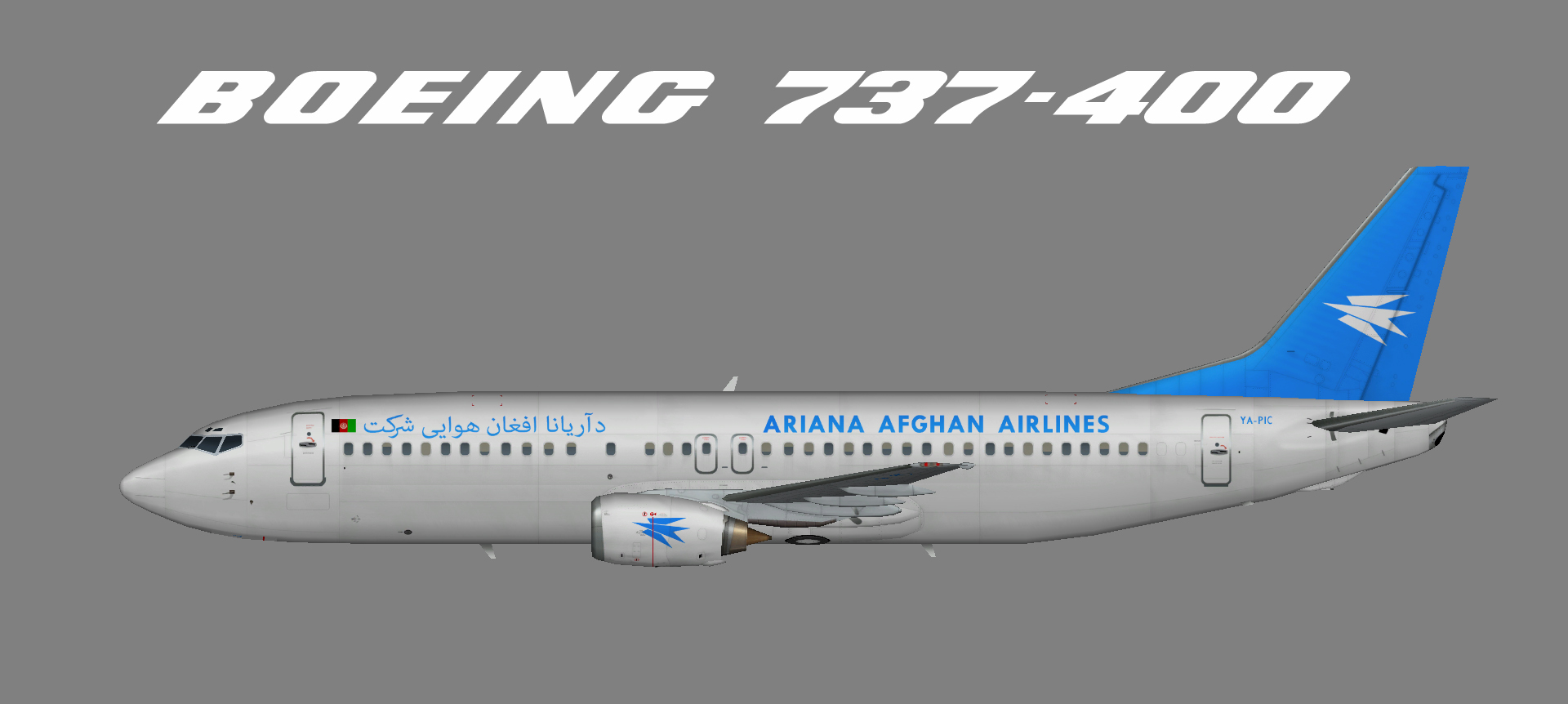 Ariana Afghan Airlines Boeing 737-400