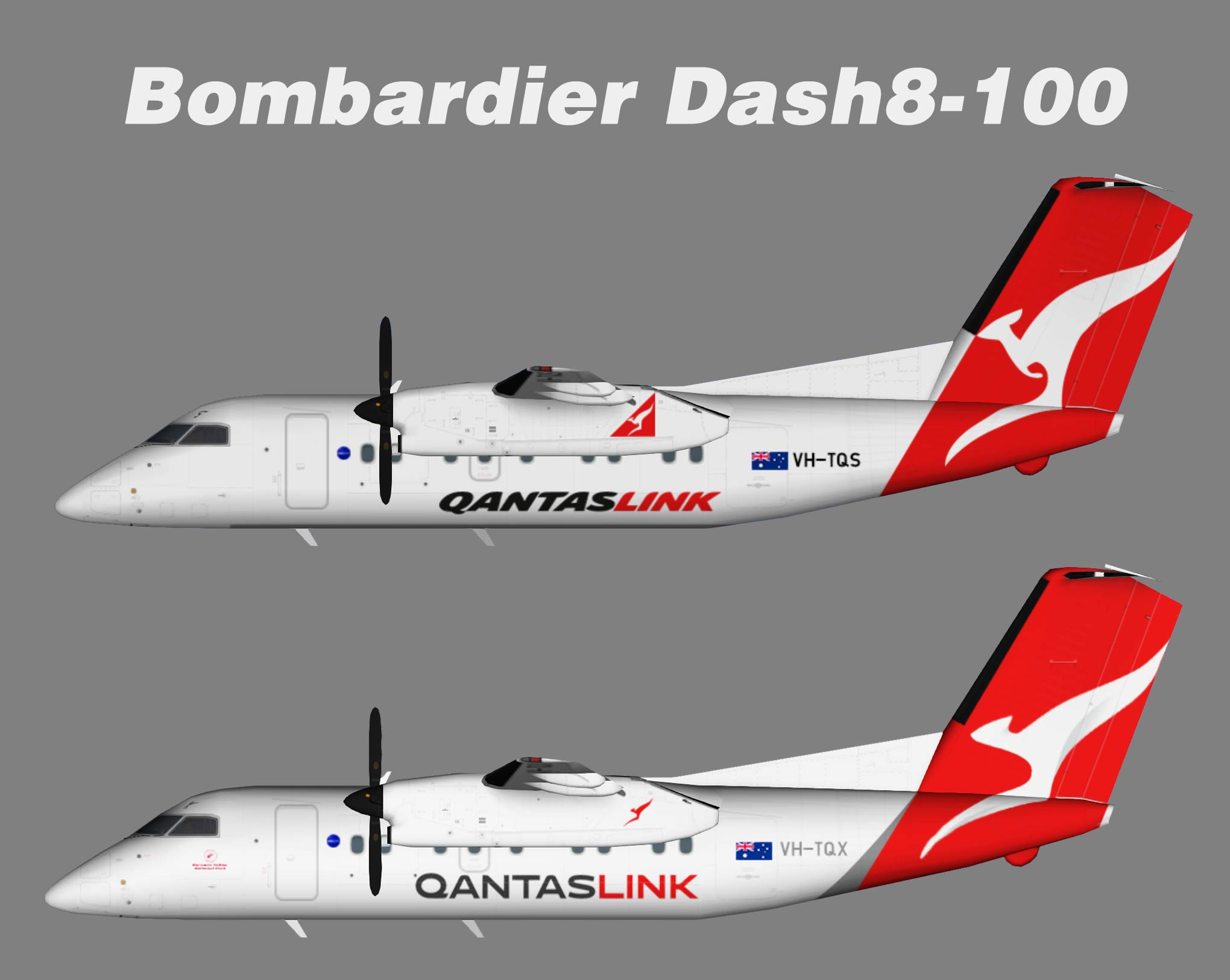 Qantaslink Bombardier Dash8-200 NC