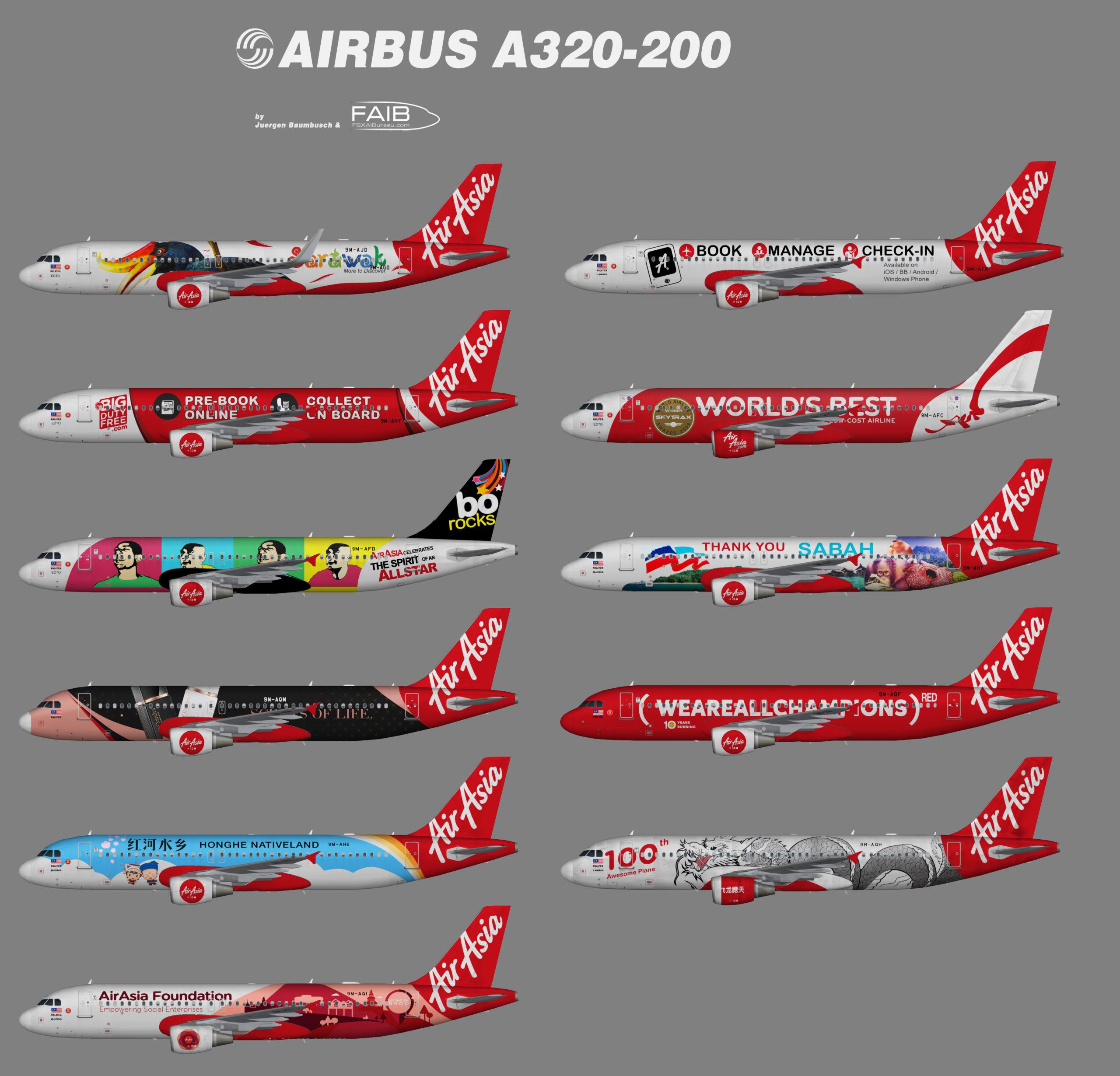 AirAsia Airbus A320-200 Specials