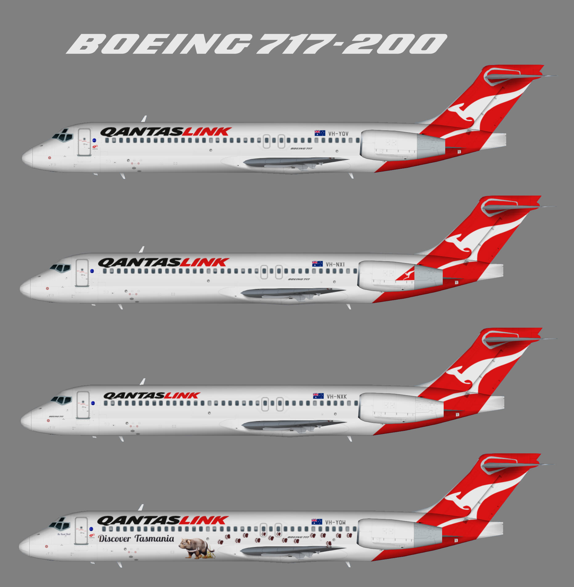 qantaslink boeing 717 200 juergen s paint hangar