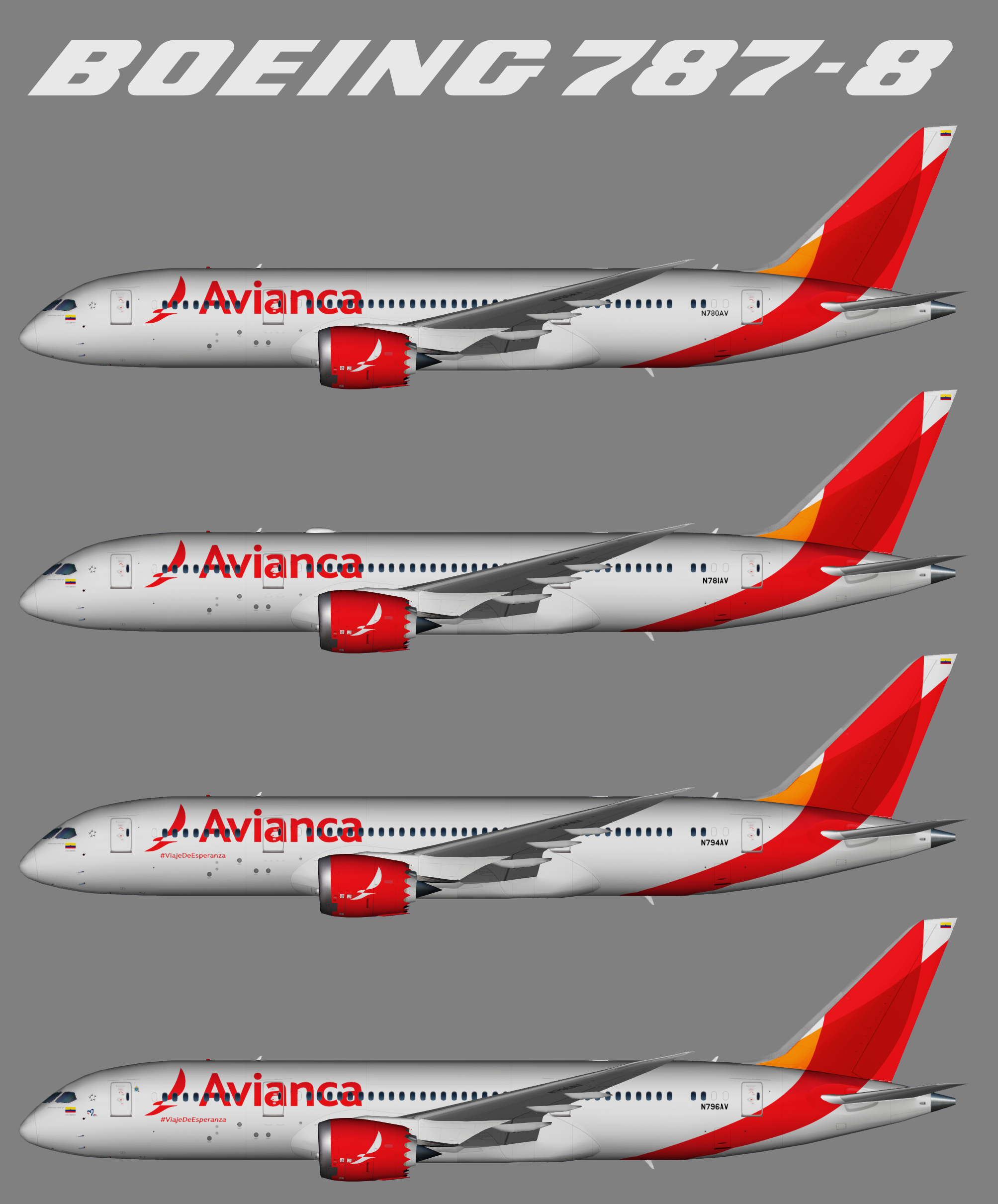 Avianca Colombia Boeing 787-8