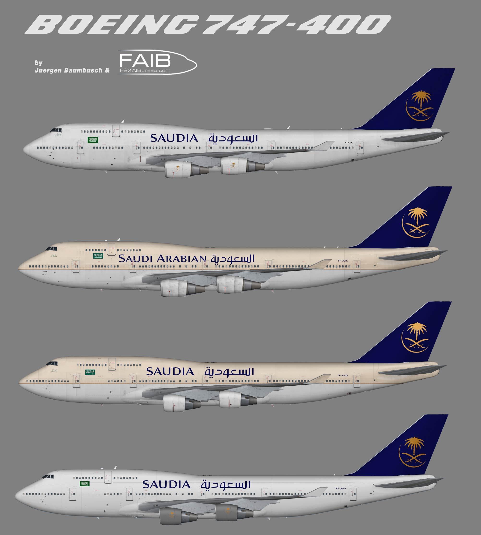 Saudia Boeing 747-400