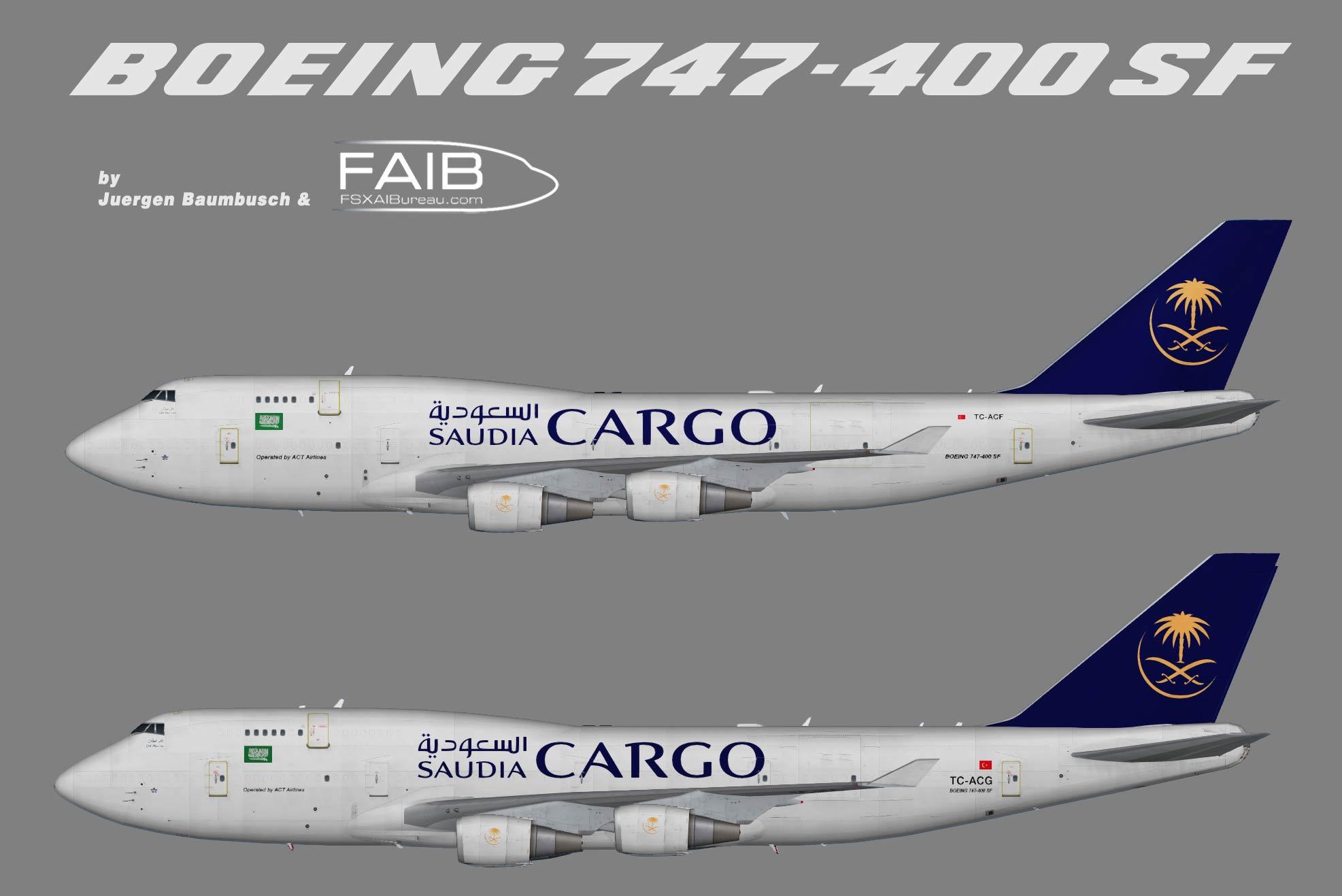 Saudia Cargo Boeing 747-400(BCF)