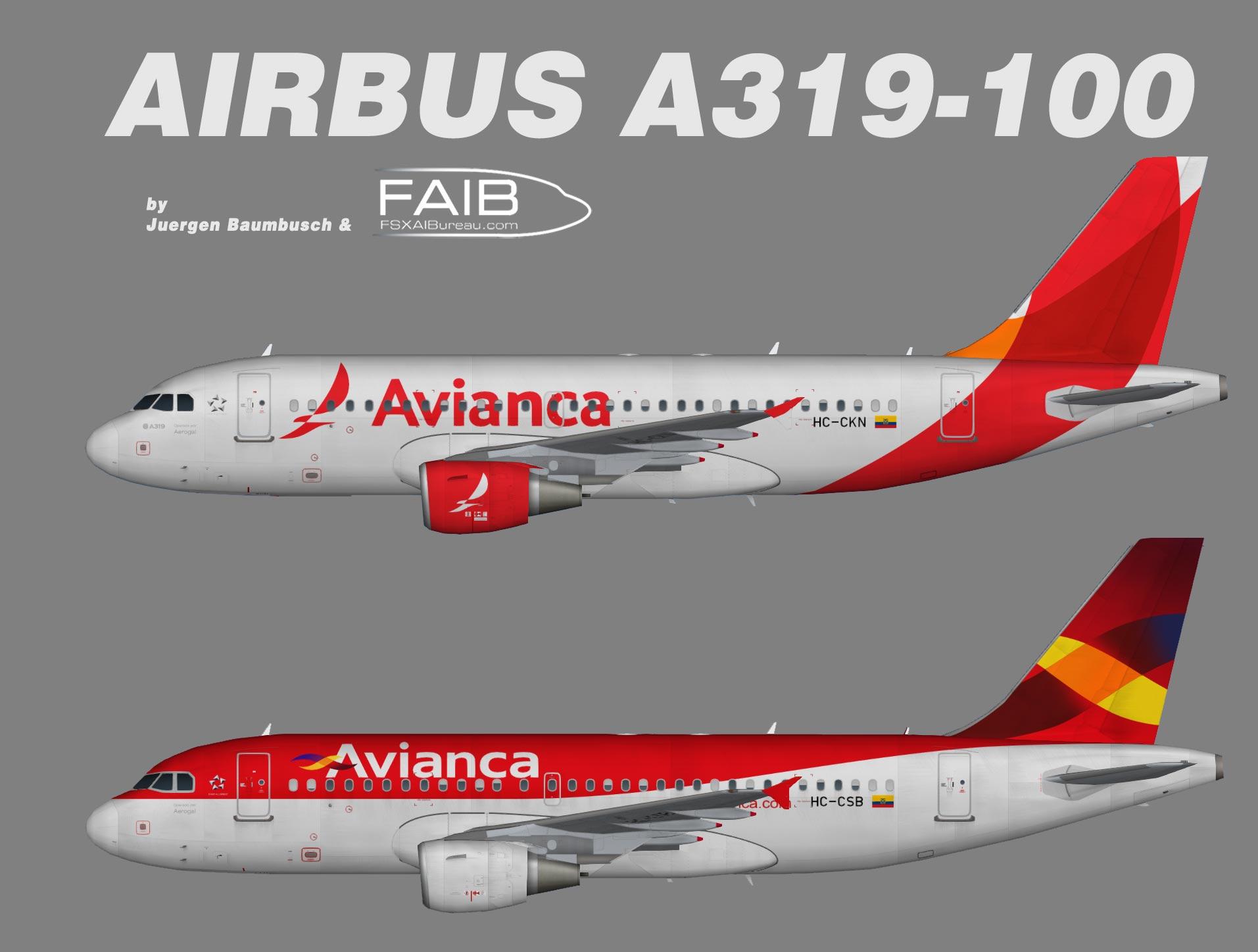 Avianca Ecuador NC Airbus A319-100