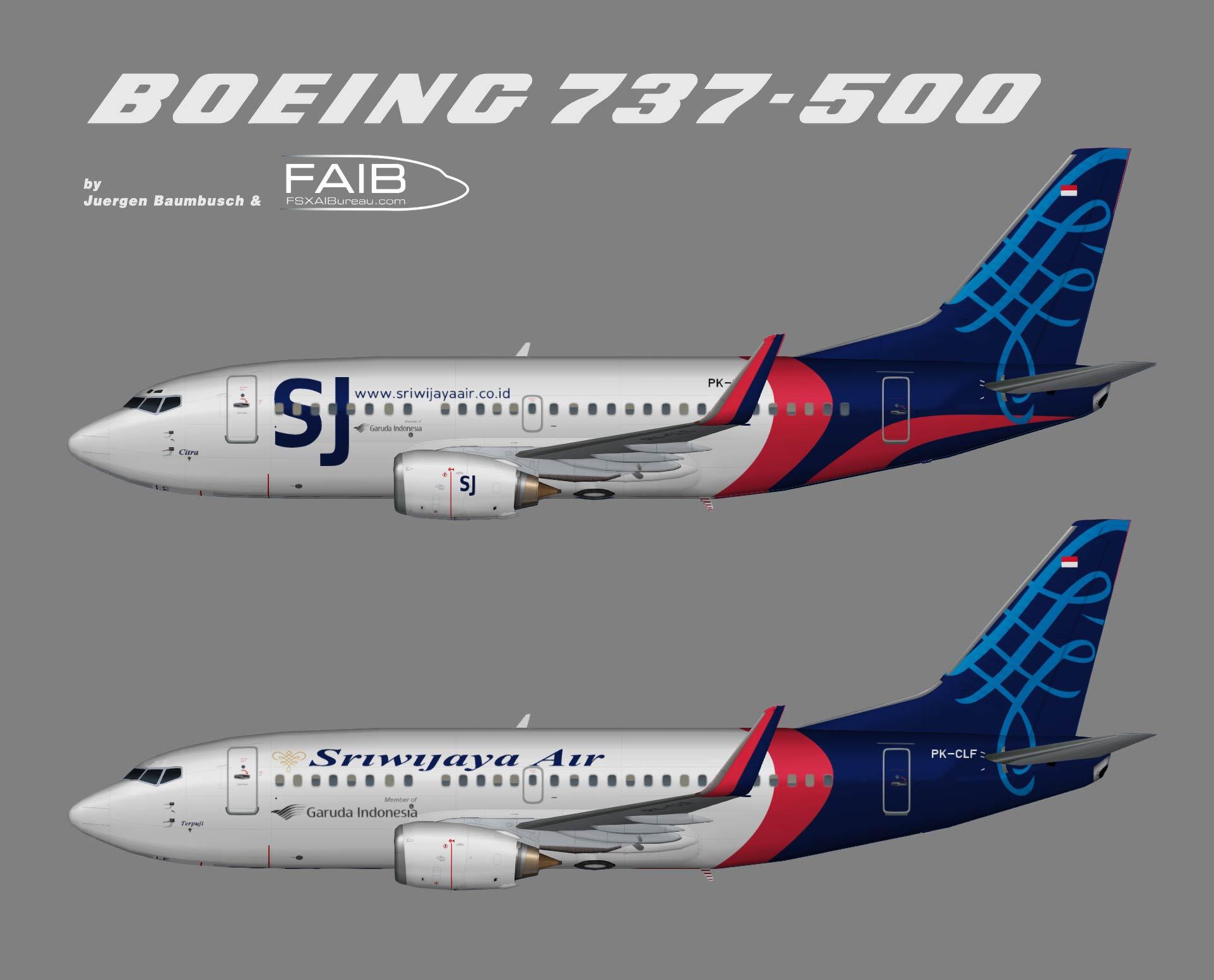 Sriwijaya Air Boeing 737-500w