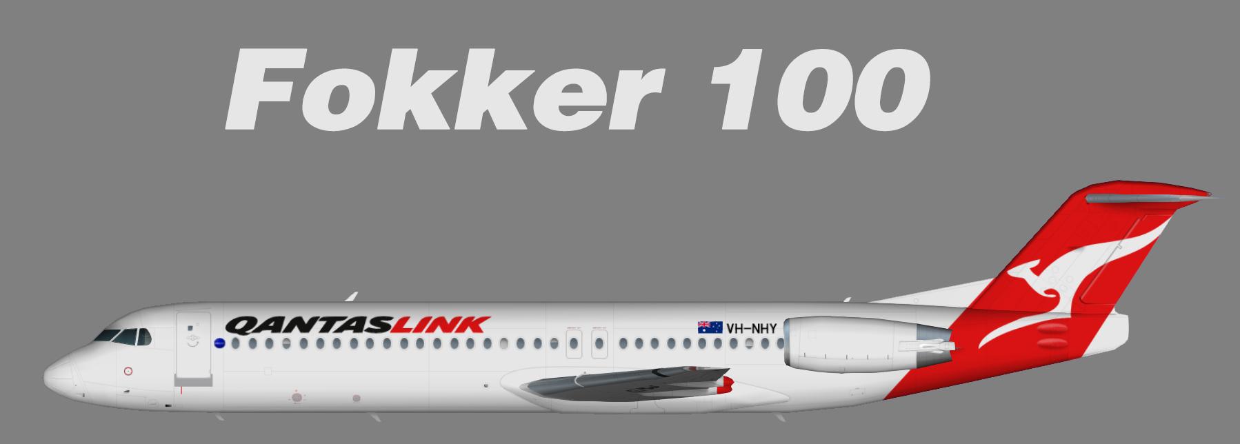 Qantaslink Fokker F-100