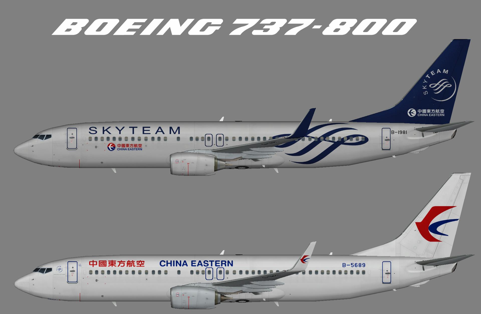 China Eastern Boeing 737-800w – Juergen's paint hangar