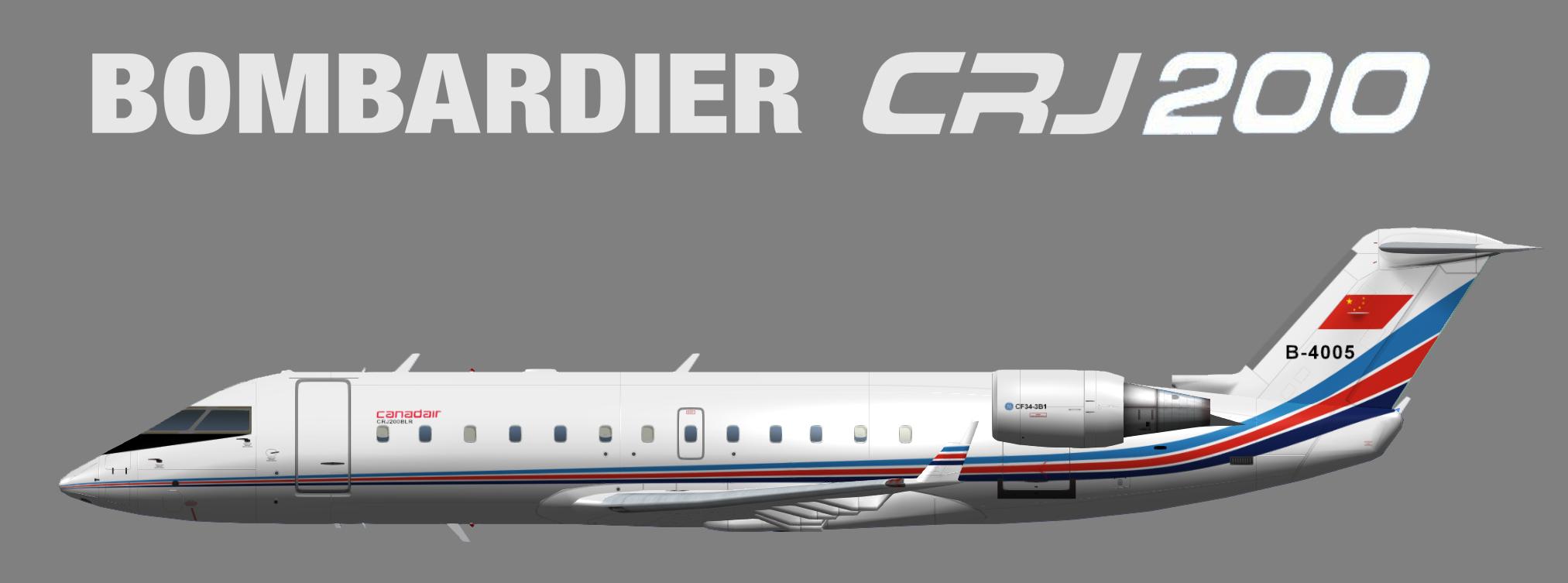 PLAAF – China Air Force Bombardier CRJ-200