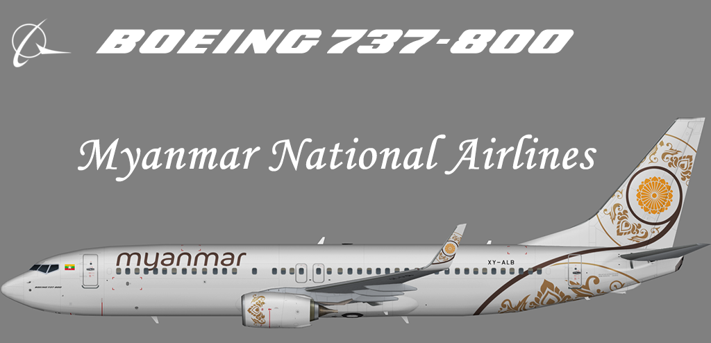 Myanmar National Airlines Boeing 737-800 – Nils