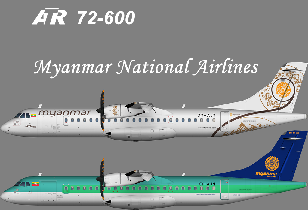 Myanmar National Airlines ATR 72 – Nils