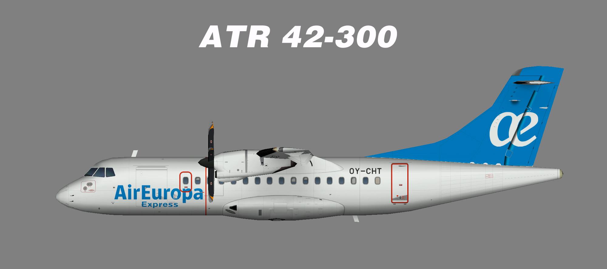 Air Europa Express Atr42 300 Juergen S Paint Hangar