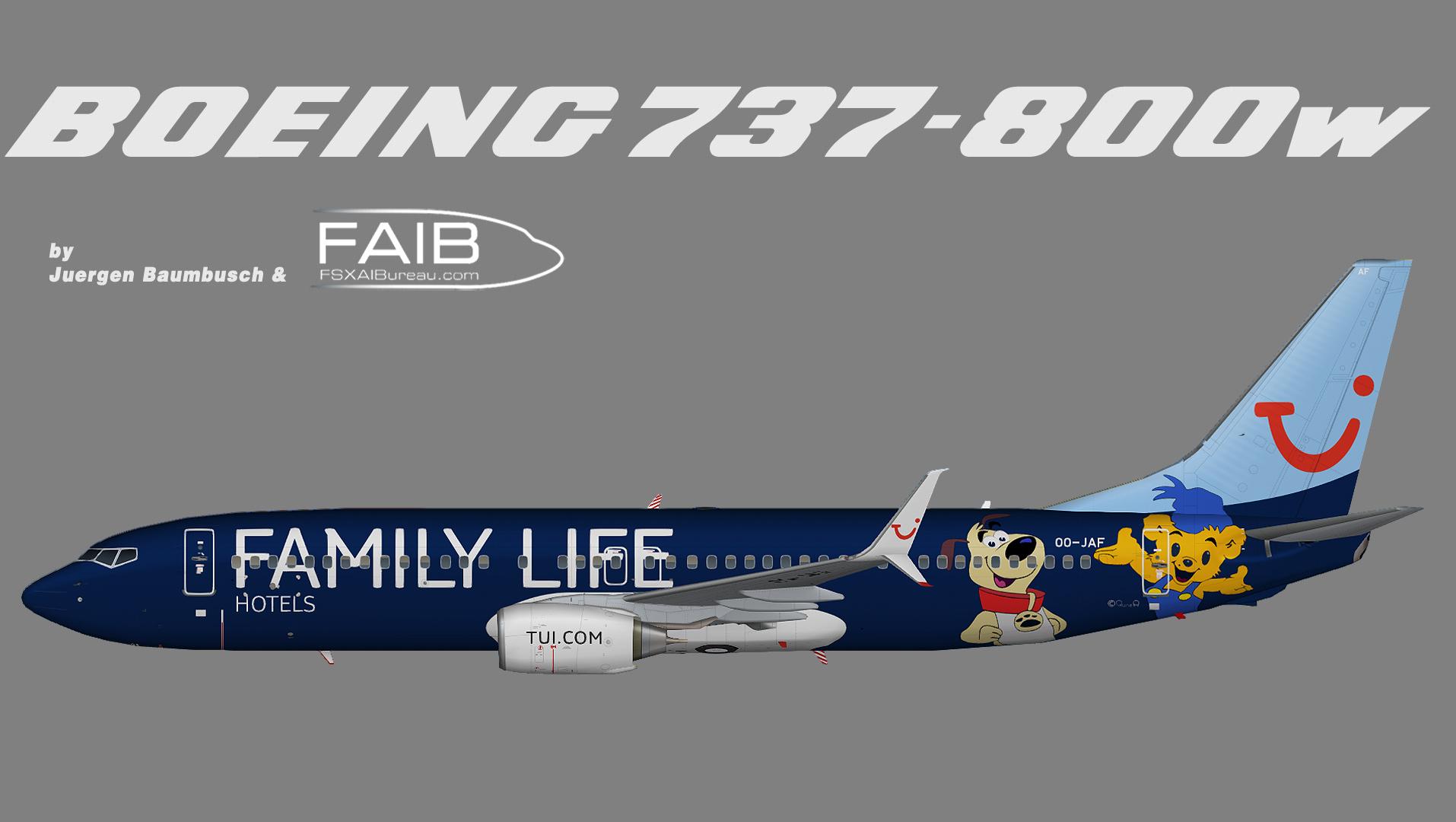 TUI Airlines Belgium Boeing 737-800 SSW Family Life Logojet