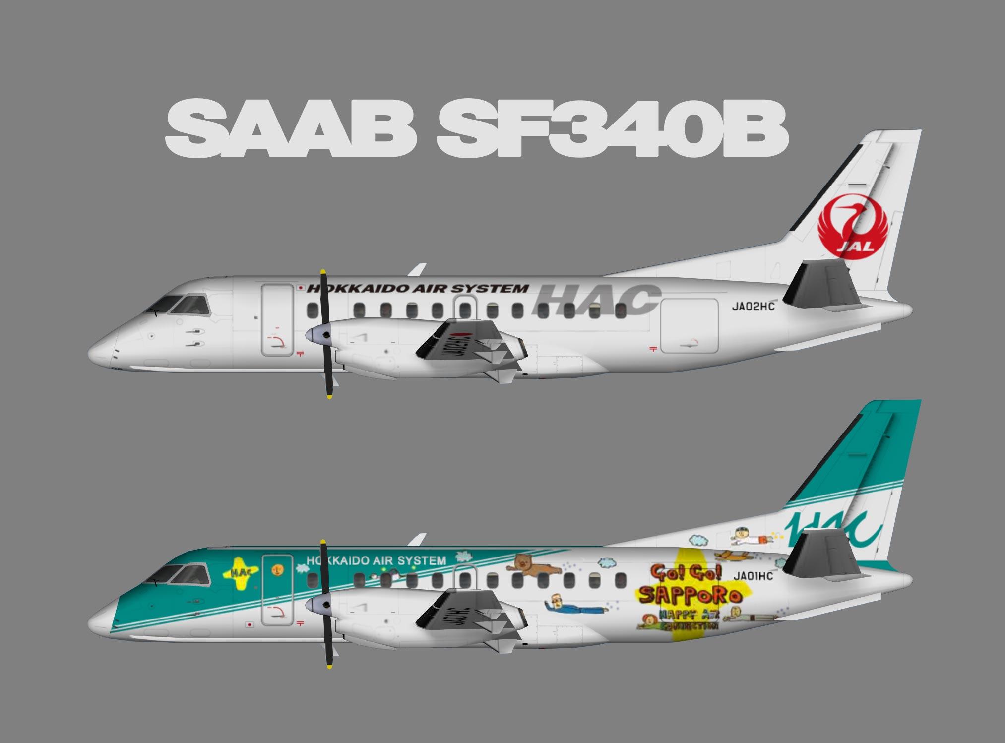 Hokkaido Air System Saab 340B