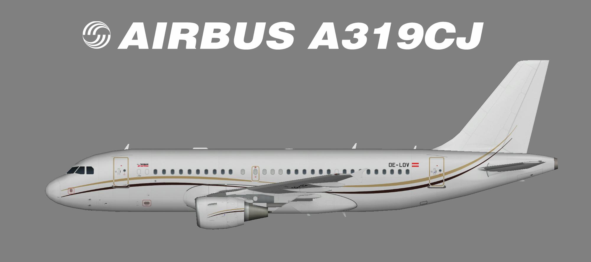 Tyrolean Jet Service Airbus A319-100CJ OC-LOV
