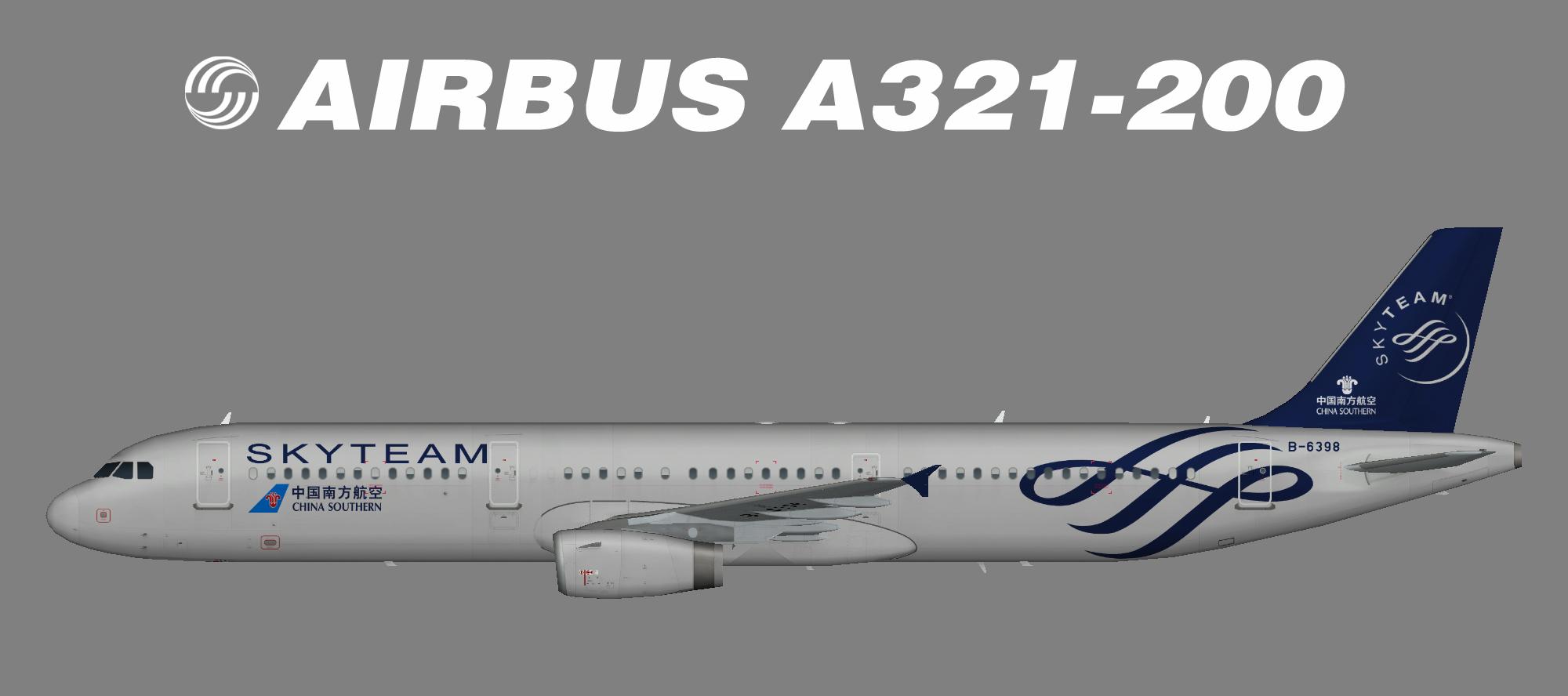 China Southern A321-200 Skyteam