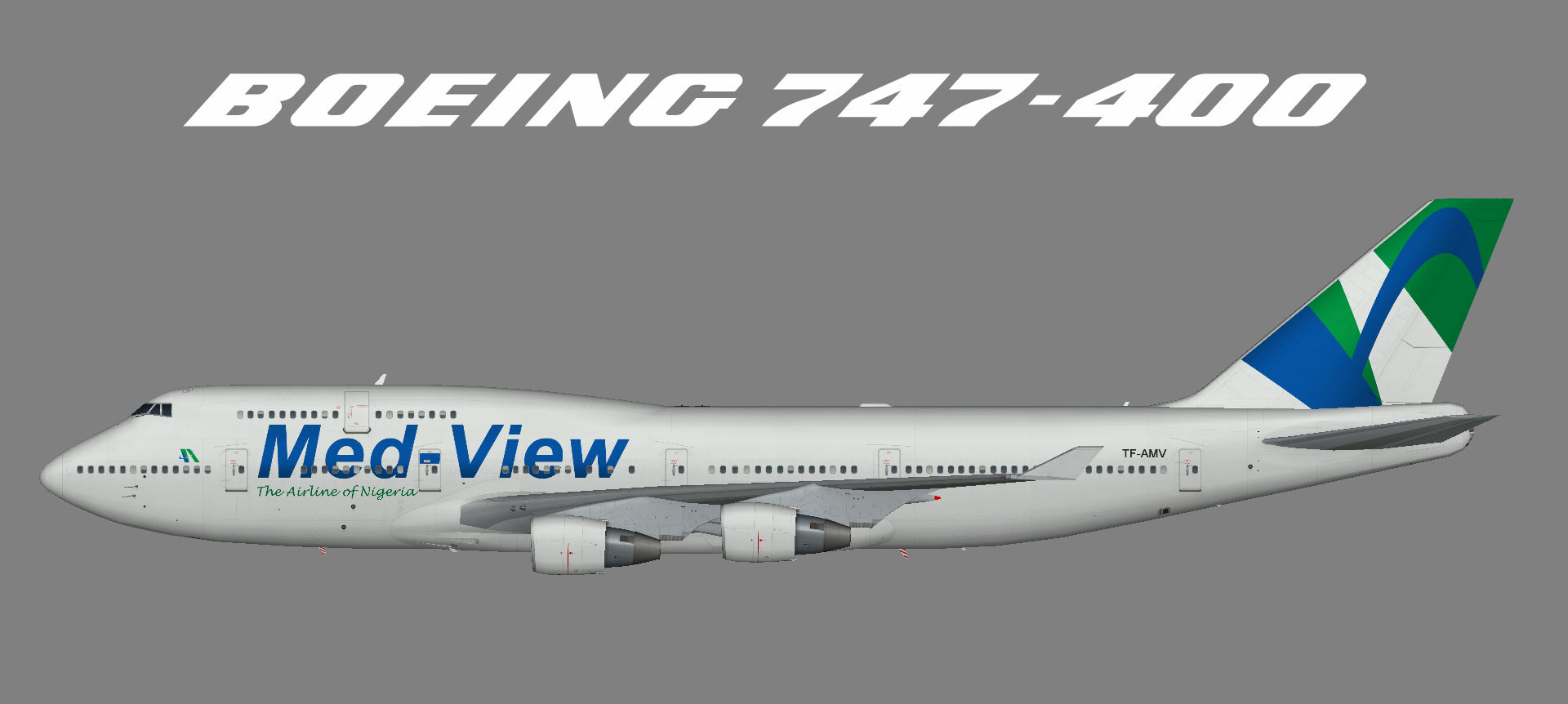Med-View Airline 747-400