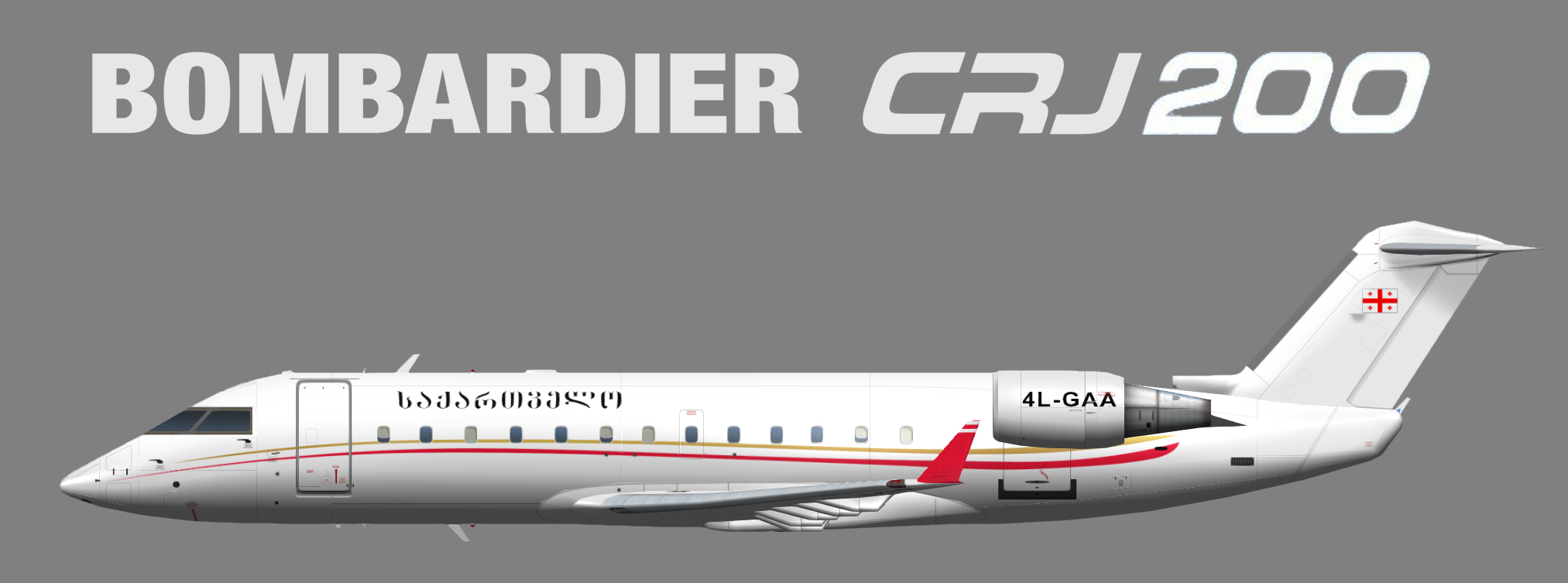 Georgian Government Bombardier CRJ200 (opb Georgian Airways)