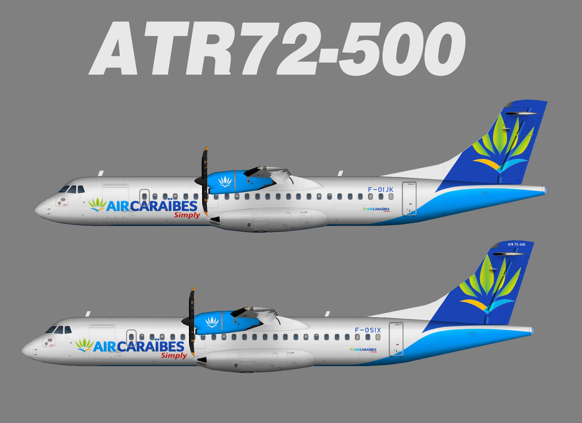Air Caraibes ATR 72-500 new colors