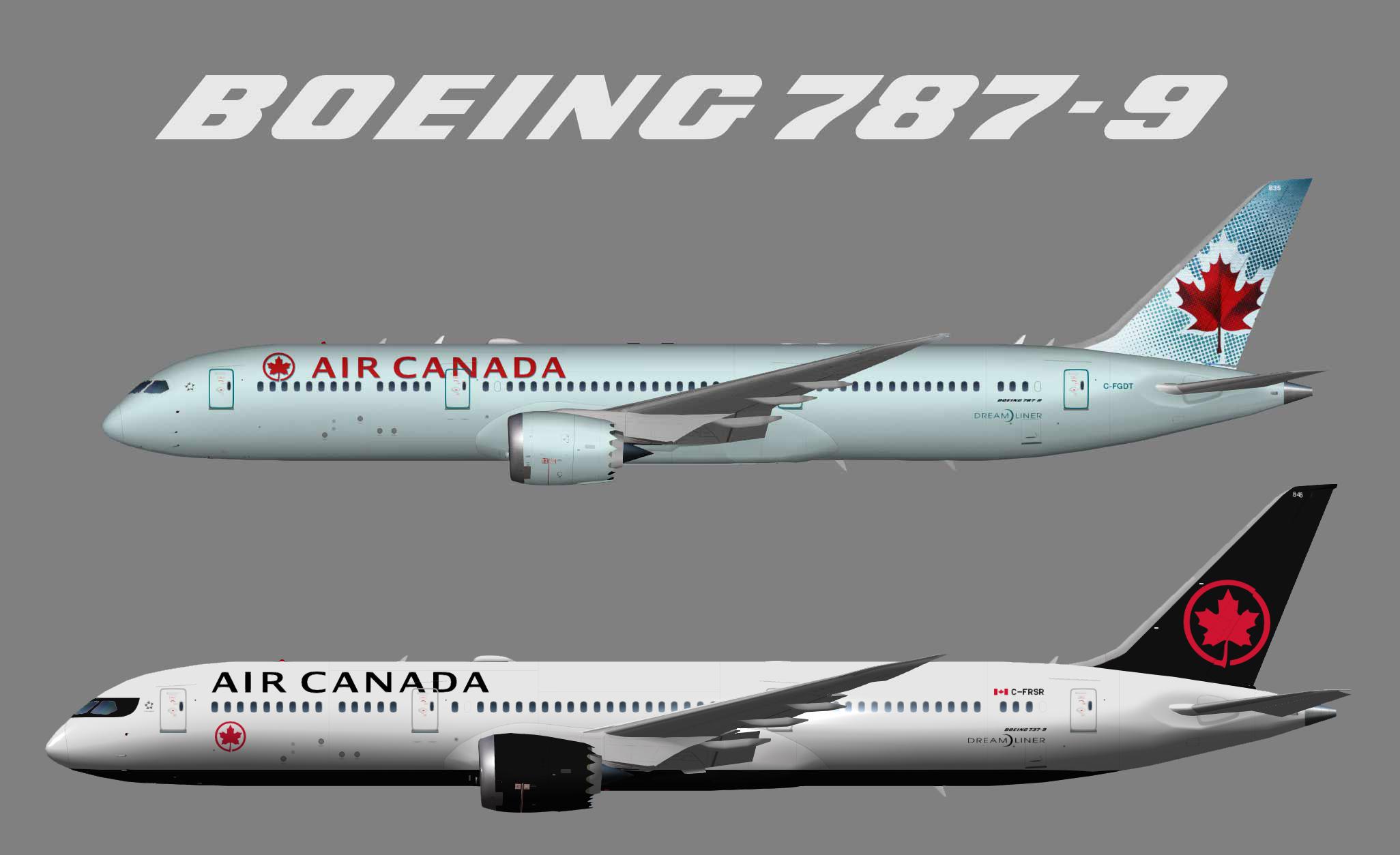 Air Canada Boeing 787-9 (UTT)