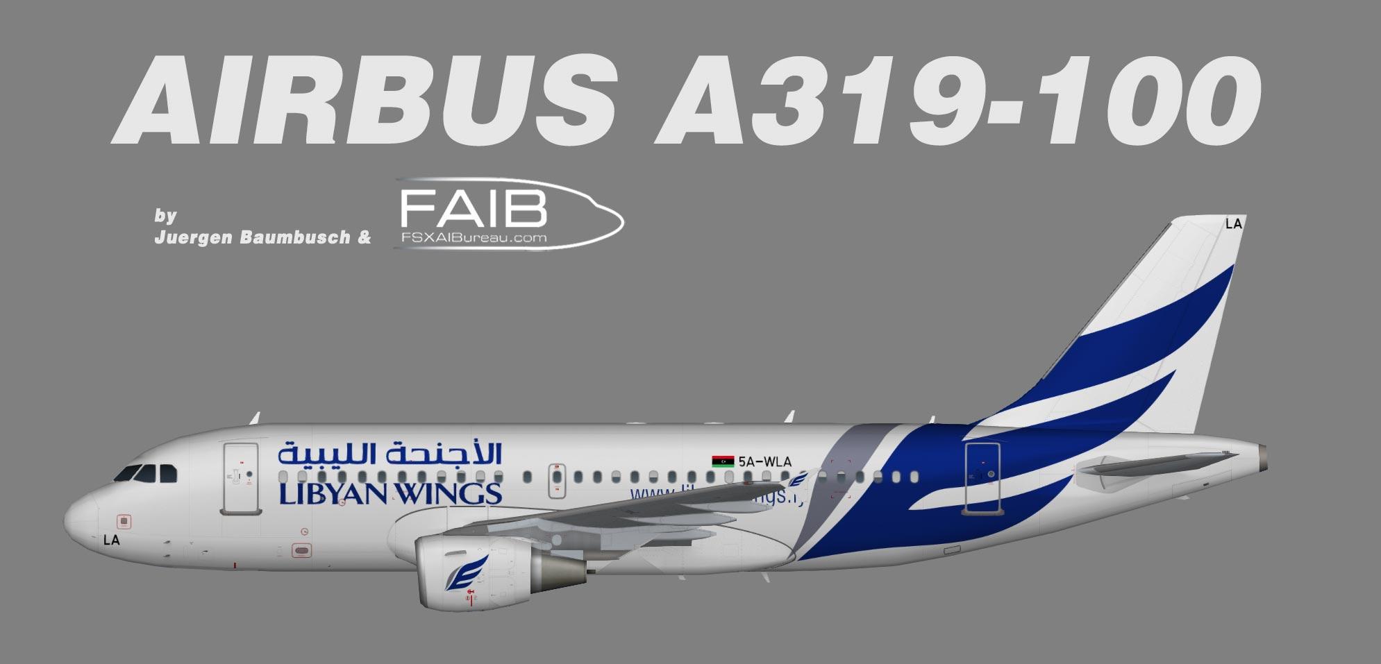 Libyan Wings Airbus A319-100