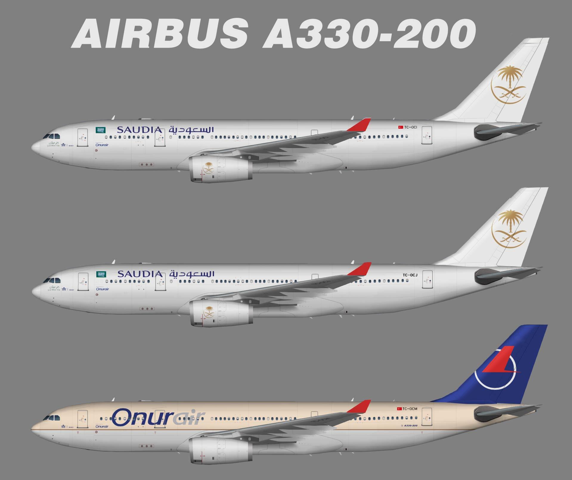 Saudia Airbus A330-200 Opb. Onur Air