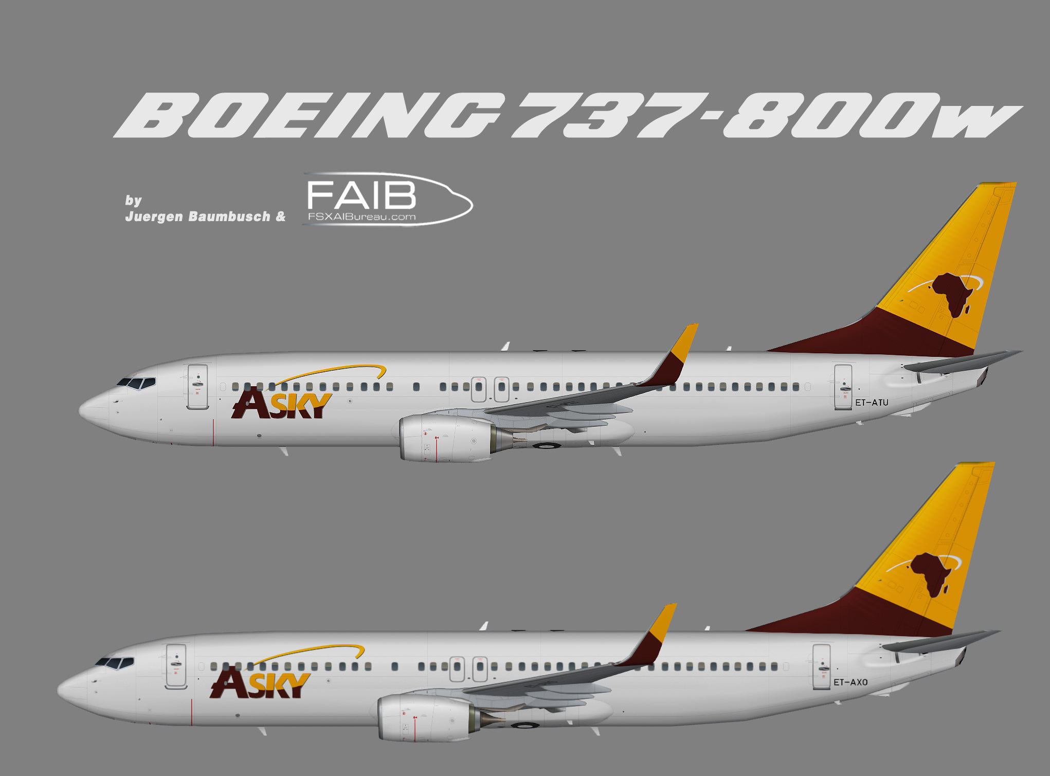 Asky Airlines Boeing 737-800w