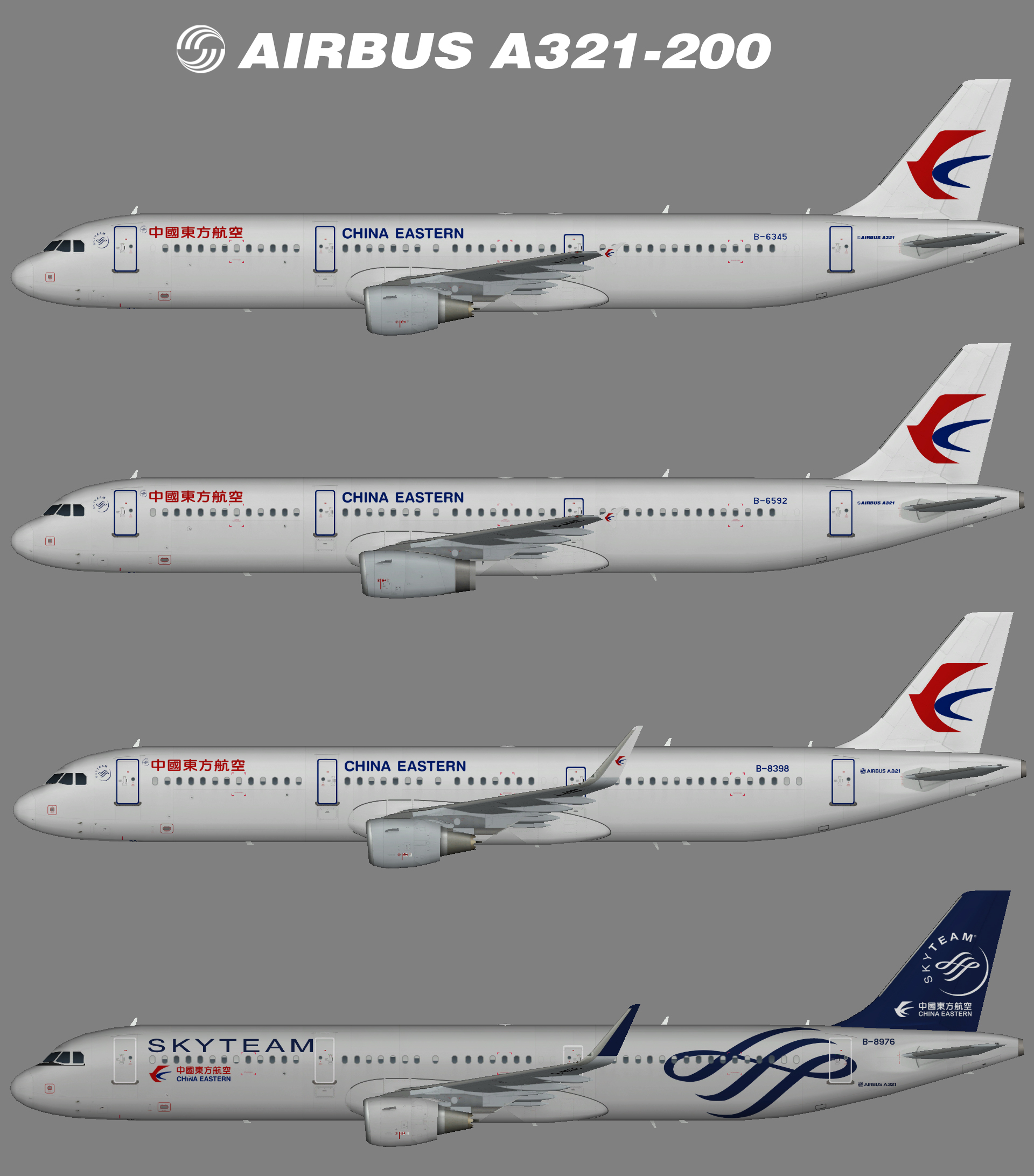 China Eastern Airbus A321-200 – Juergen's paint hangar