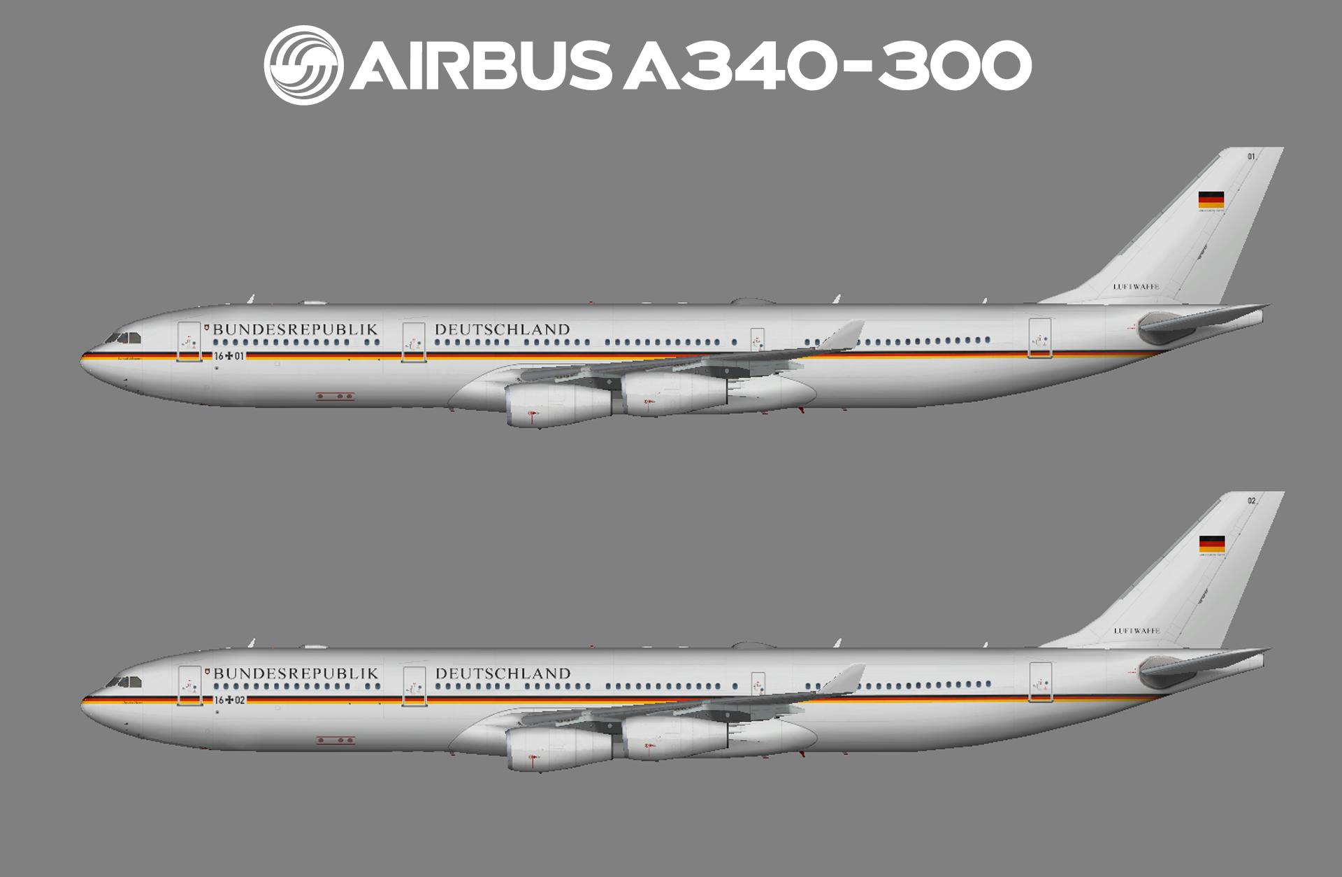 Luftwaffe (German Air Force) Airbus A340-300