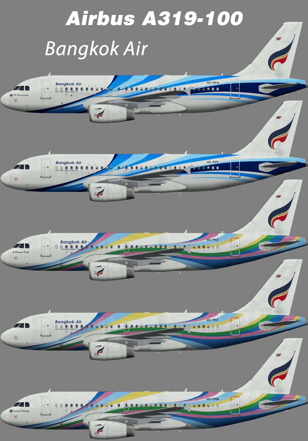 Bangkok Airways Airbus A319-100 – Nils
