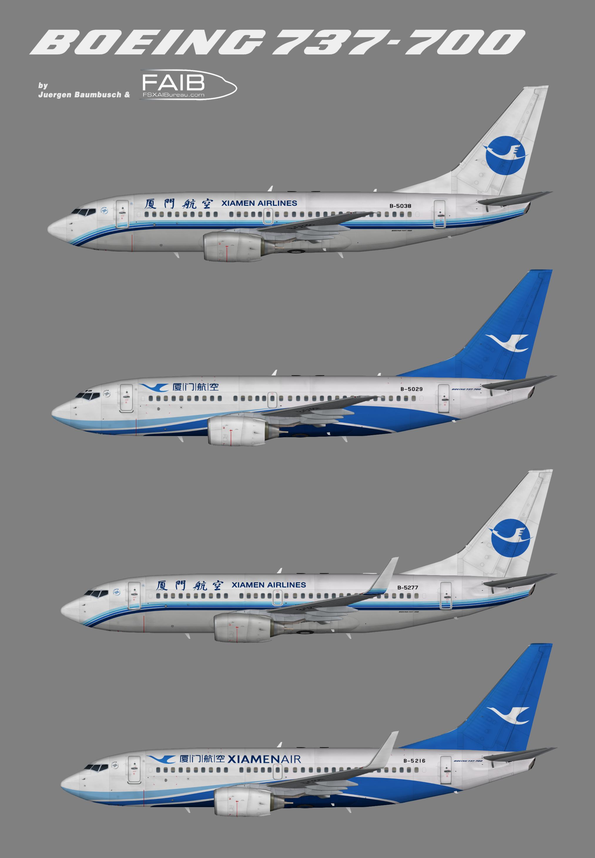Xiamen Air Boeing 737-700