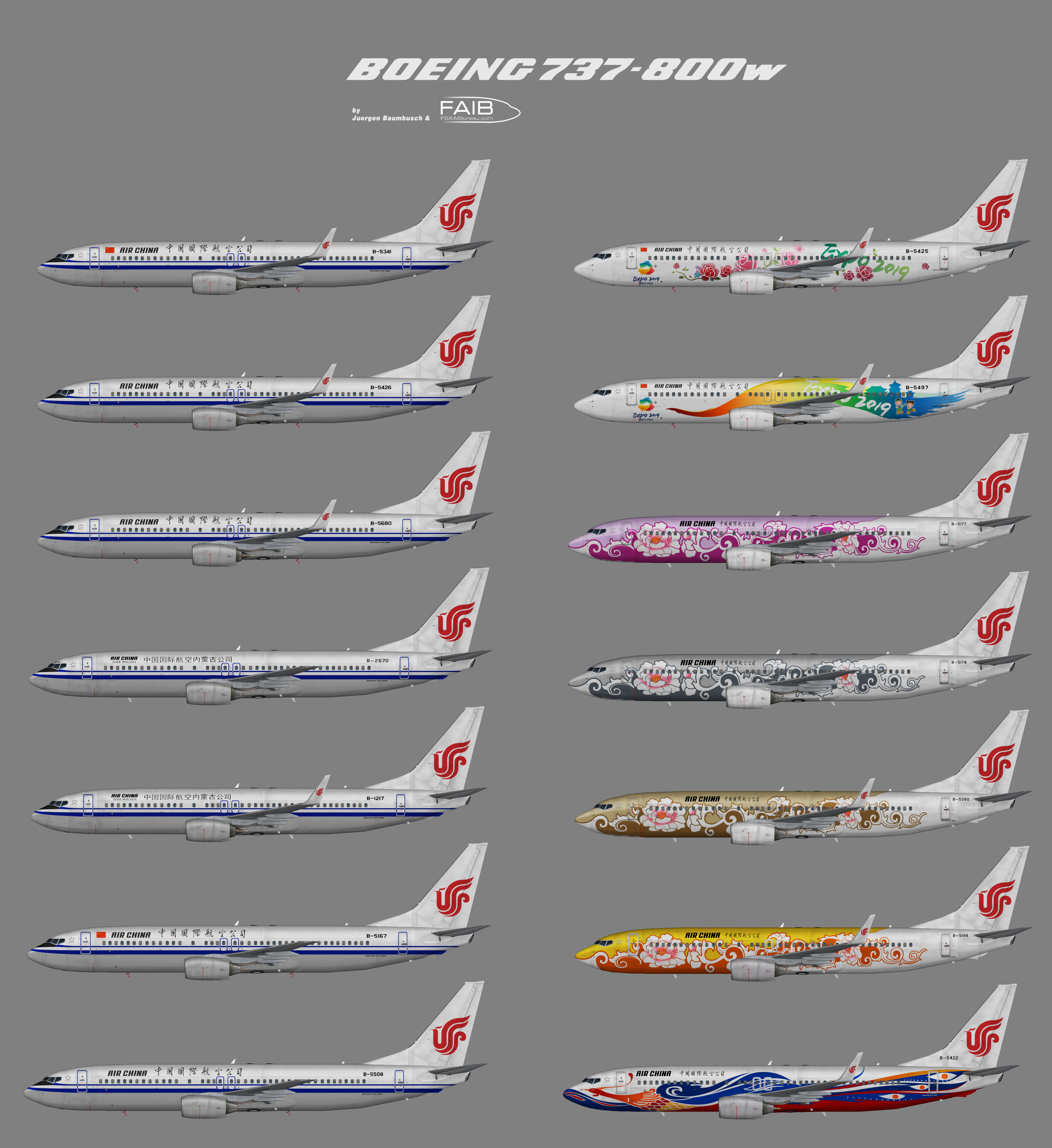 Air China Boeing 737-800/w