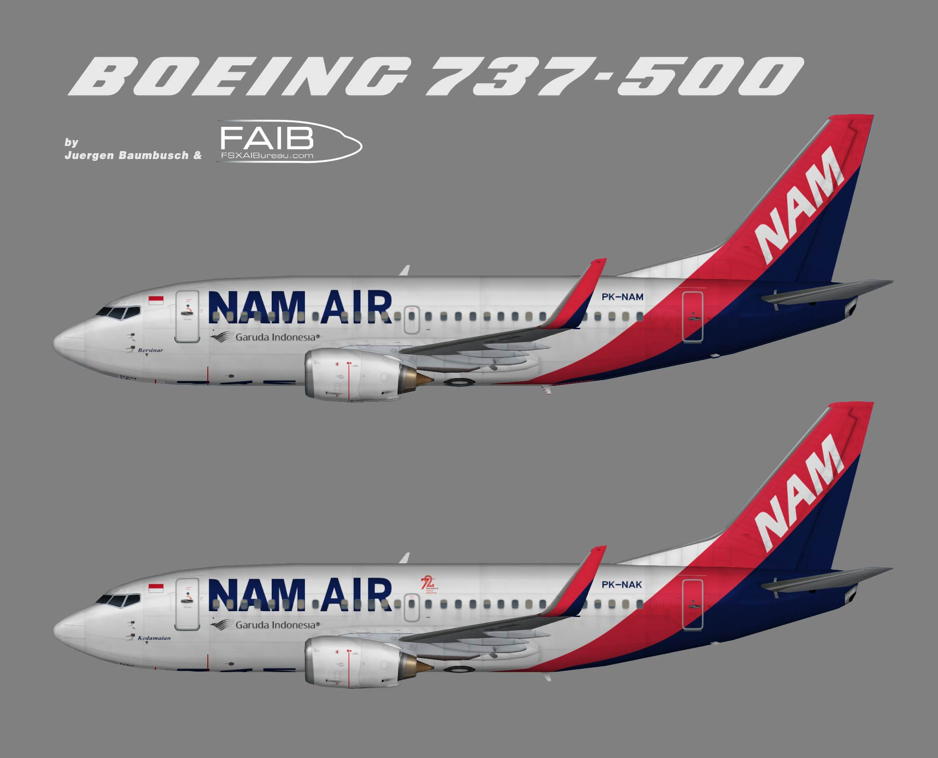 NAM Air Boeing 737-500w