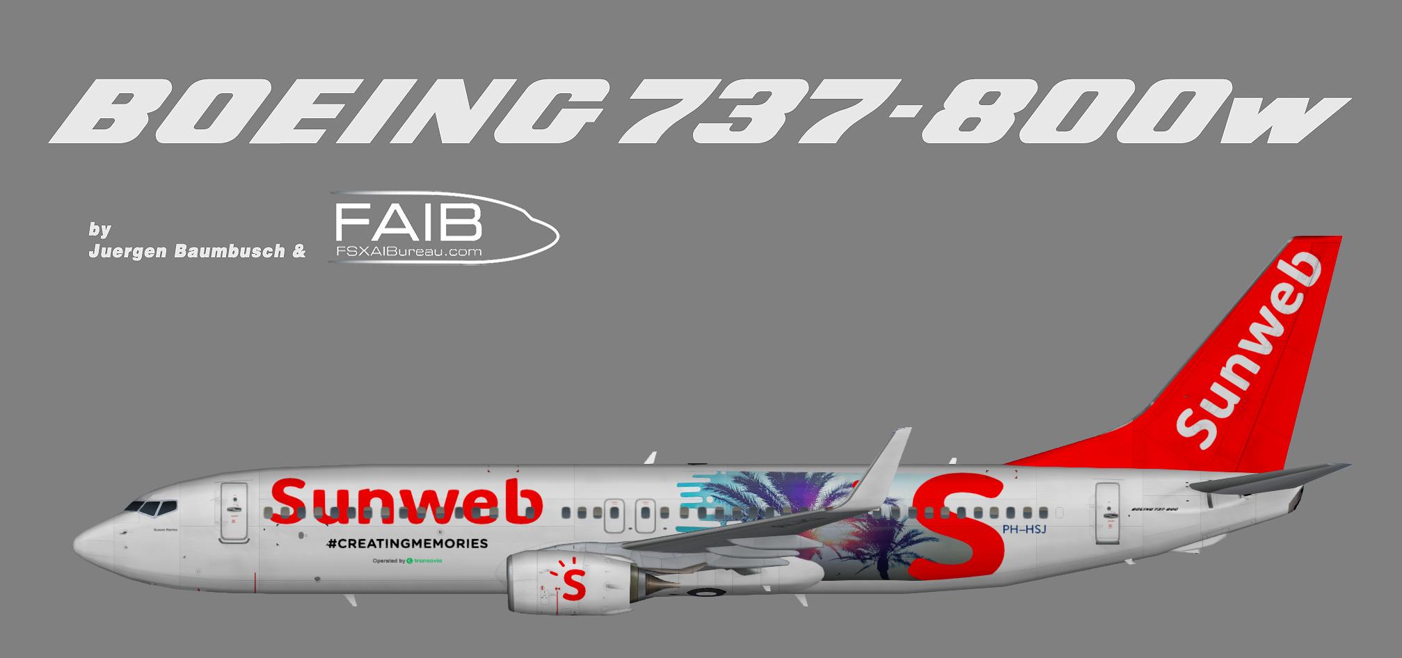 Transavia Boeing 737-800w Sunweb