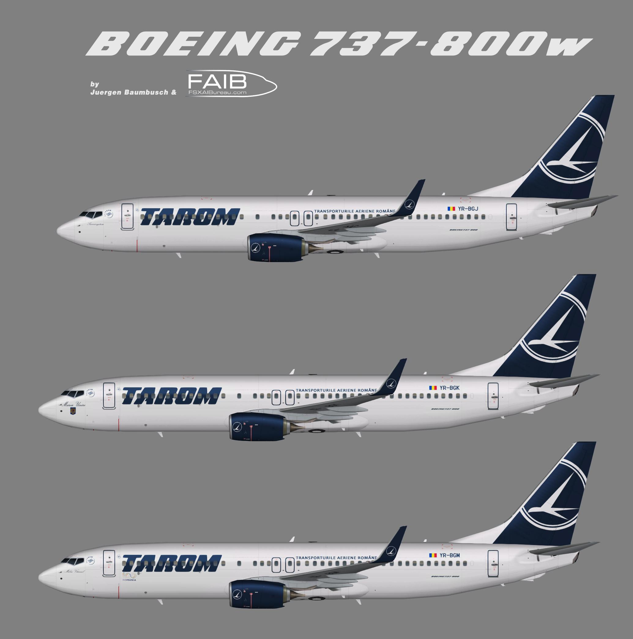 TAROM Boeing 737-800w