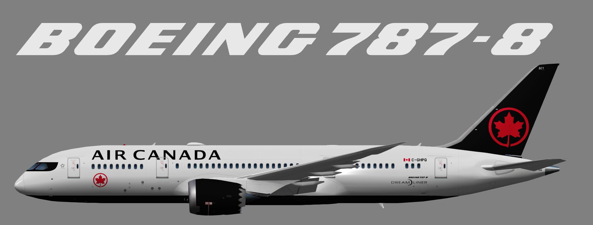 Air Canada Boeing 787-8 (UTT)