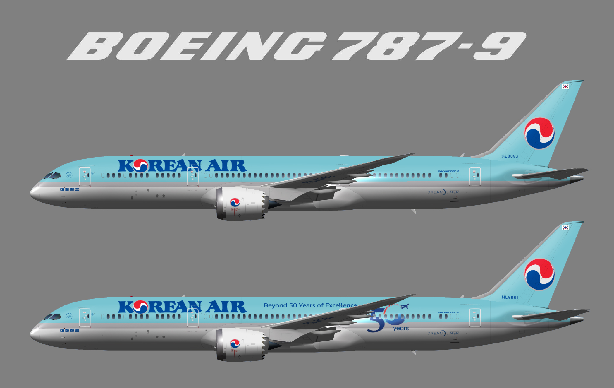 Korean Air Lines Beoing 787-9 (UTT)