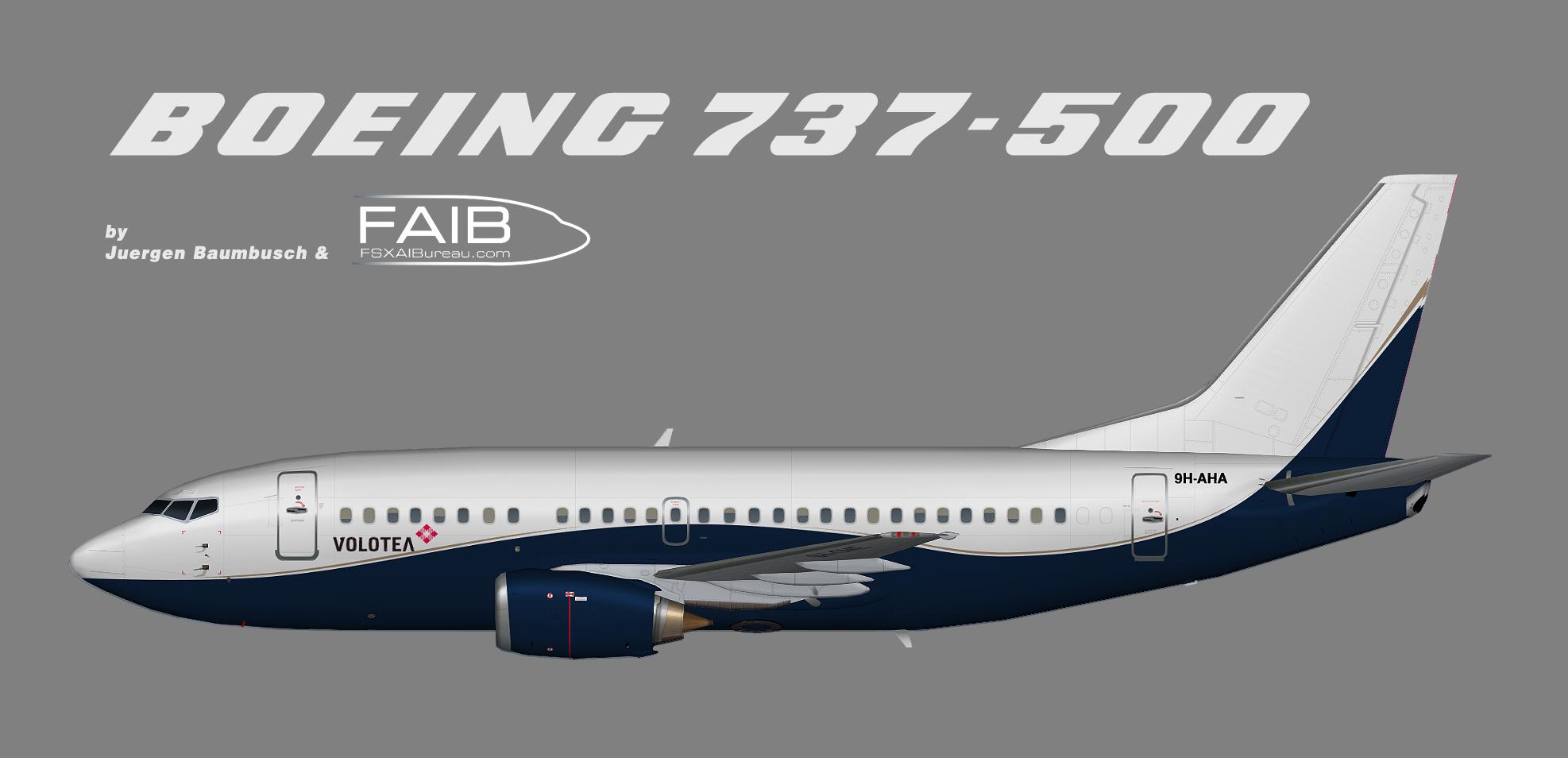 AirX Boeing 737-500 (opf Volotea)