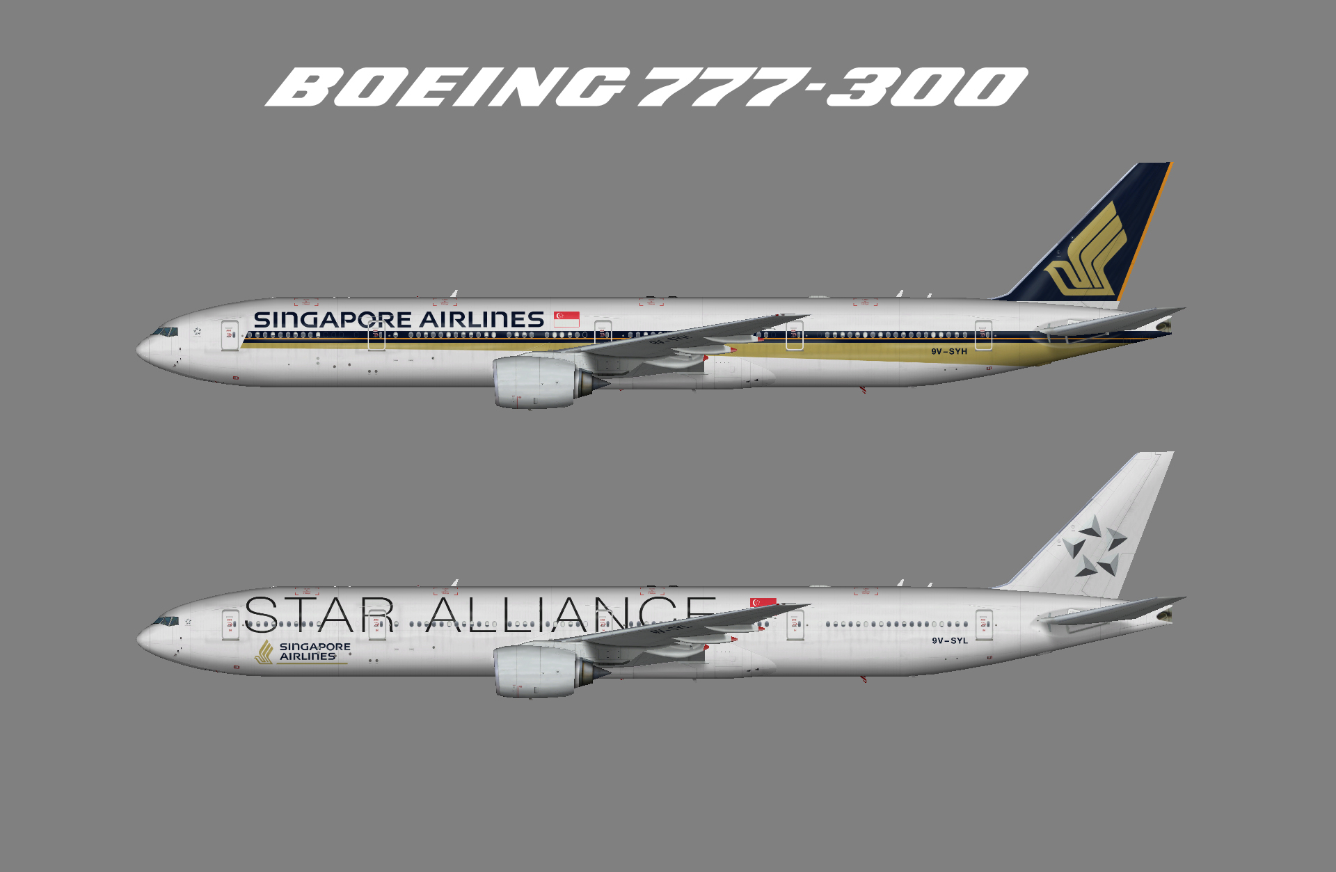 Singapore Airlines – Juergen's paint hangar