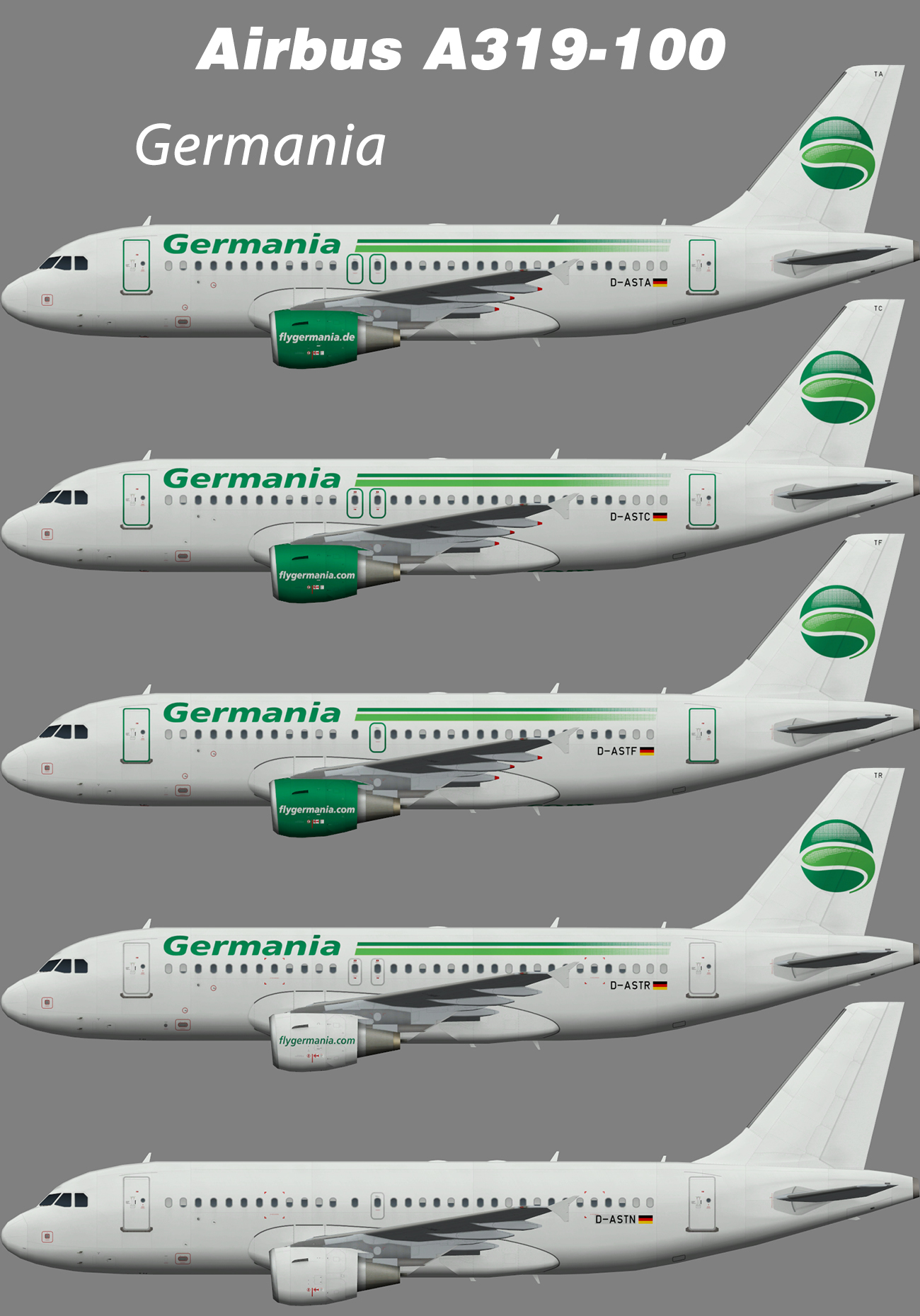 Germania Airbus A319-100 – Nils