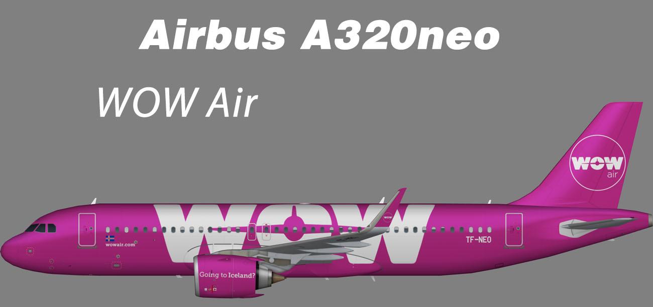 WOW Air Airbus A320neo – Nils