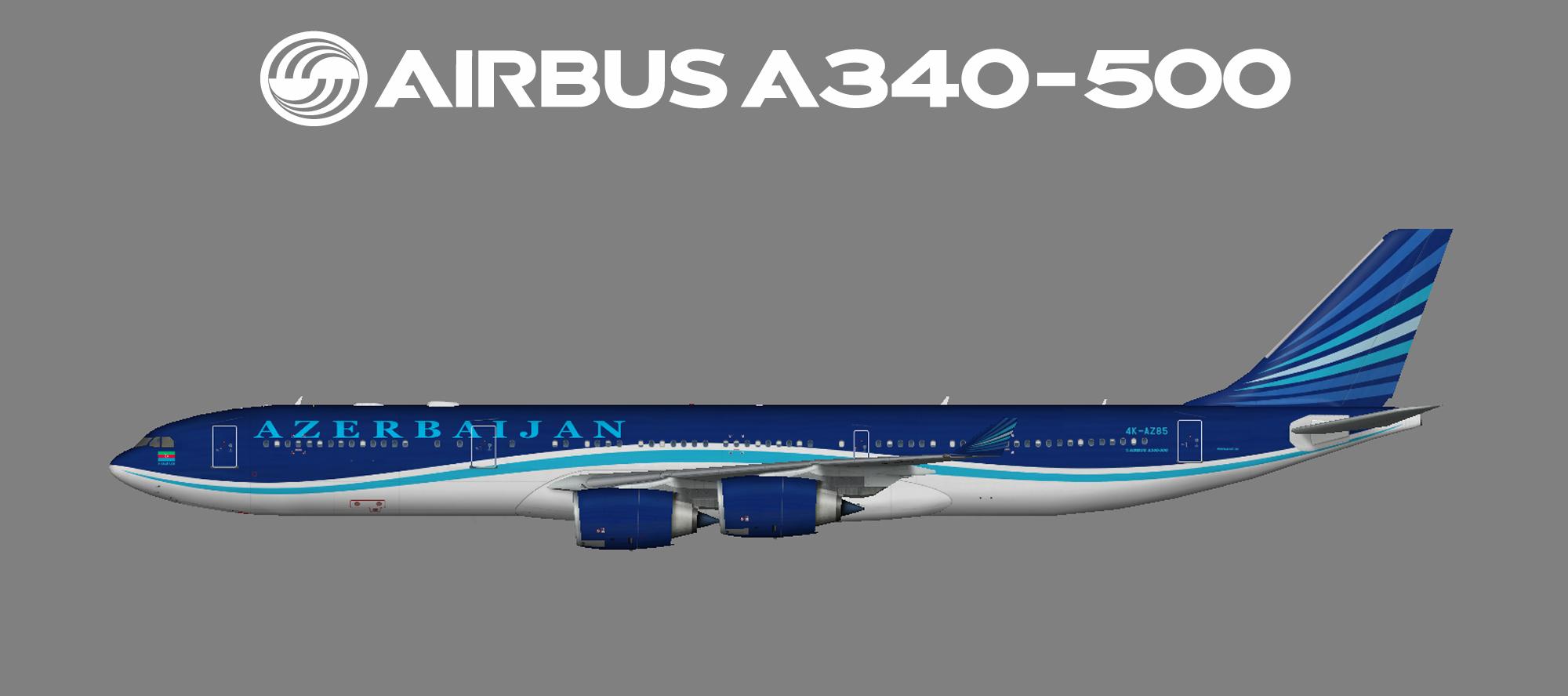 Azerbaijan Airlines (AZAL) Airbus A340-500