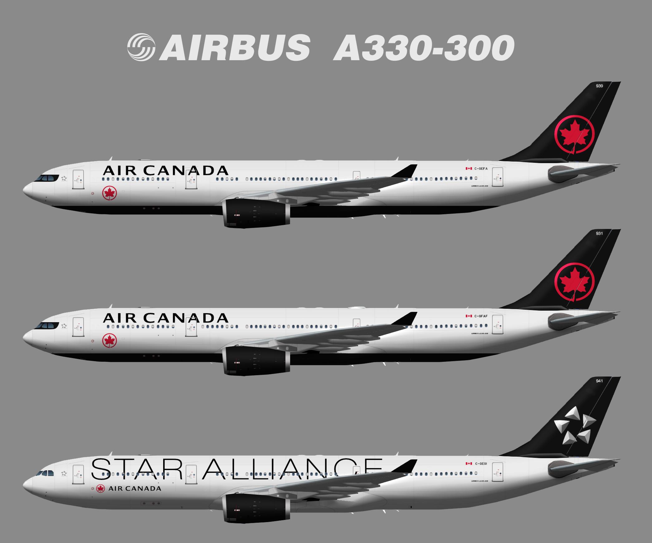 Air Canada Airbus A330-300 NC (TFS)