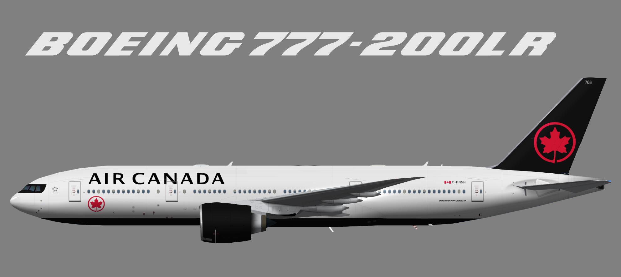 Air Canada Boeing 777-200LR NC (TFS)