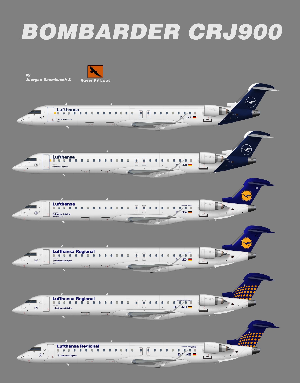 RFSL Lufthansa Regional Bombardier CRJ900